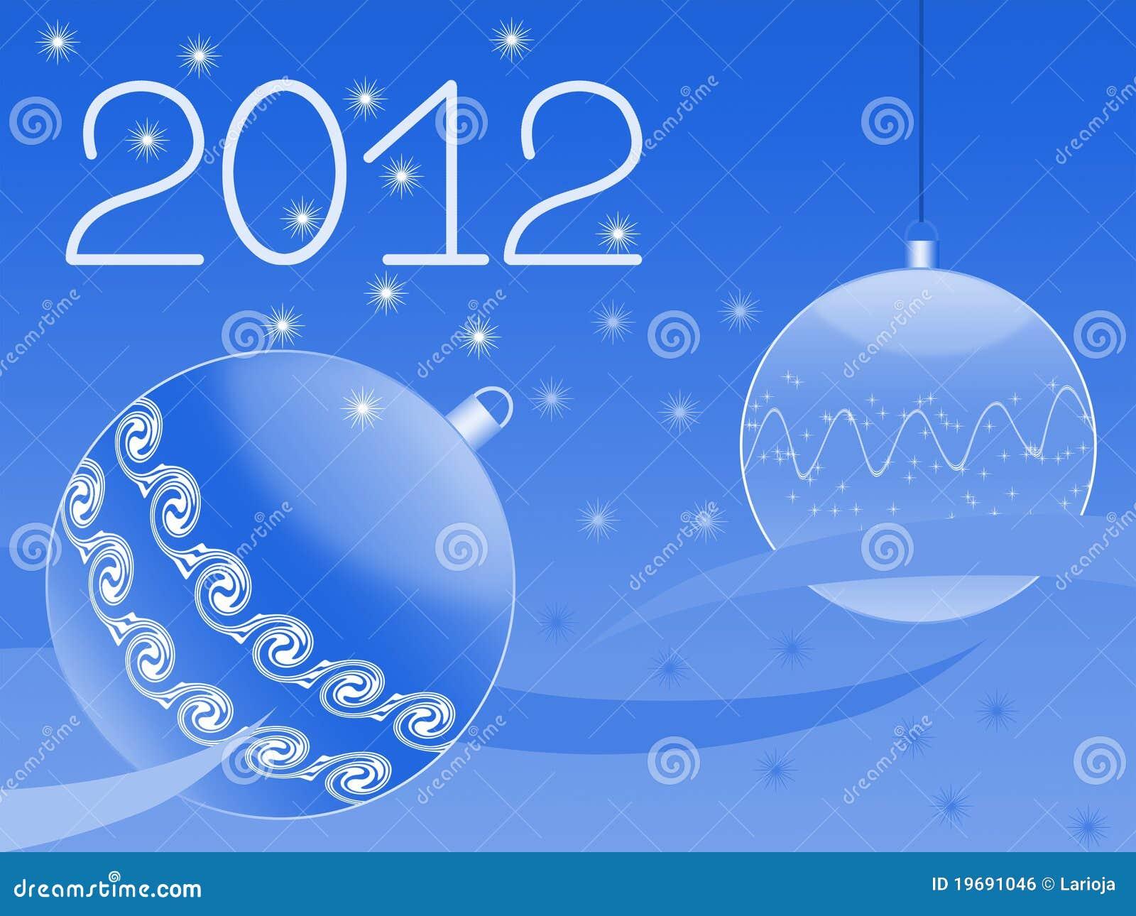 Tarjeta de felicitación del Año Nuevo