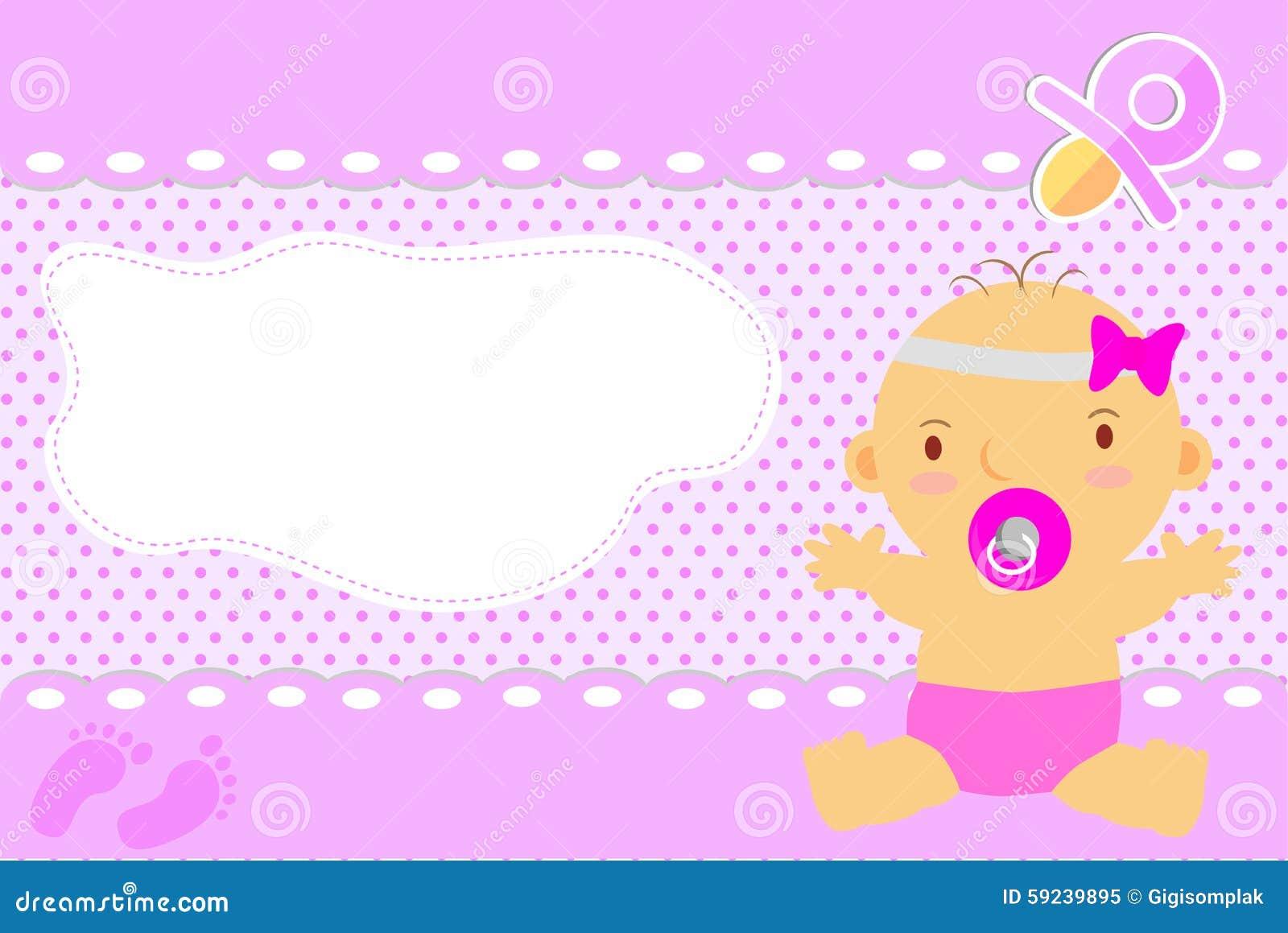 Download Tarjeta De Felicitación Del Bebé Ilustración del Vector - Ilustración de cinta, celebración: 59239895