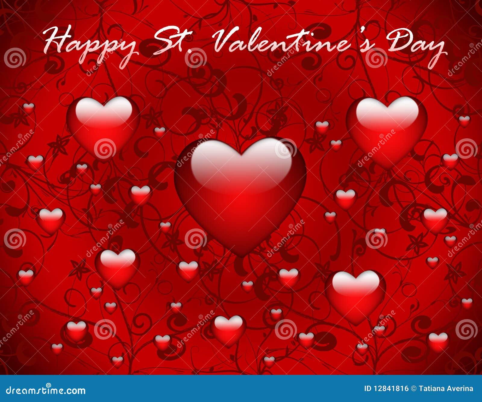 Tarjeta de felicitación del día de tarjeta del día de San Valentín