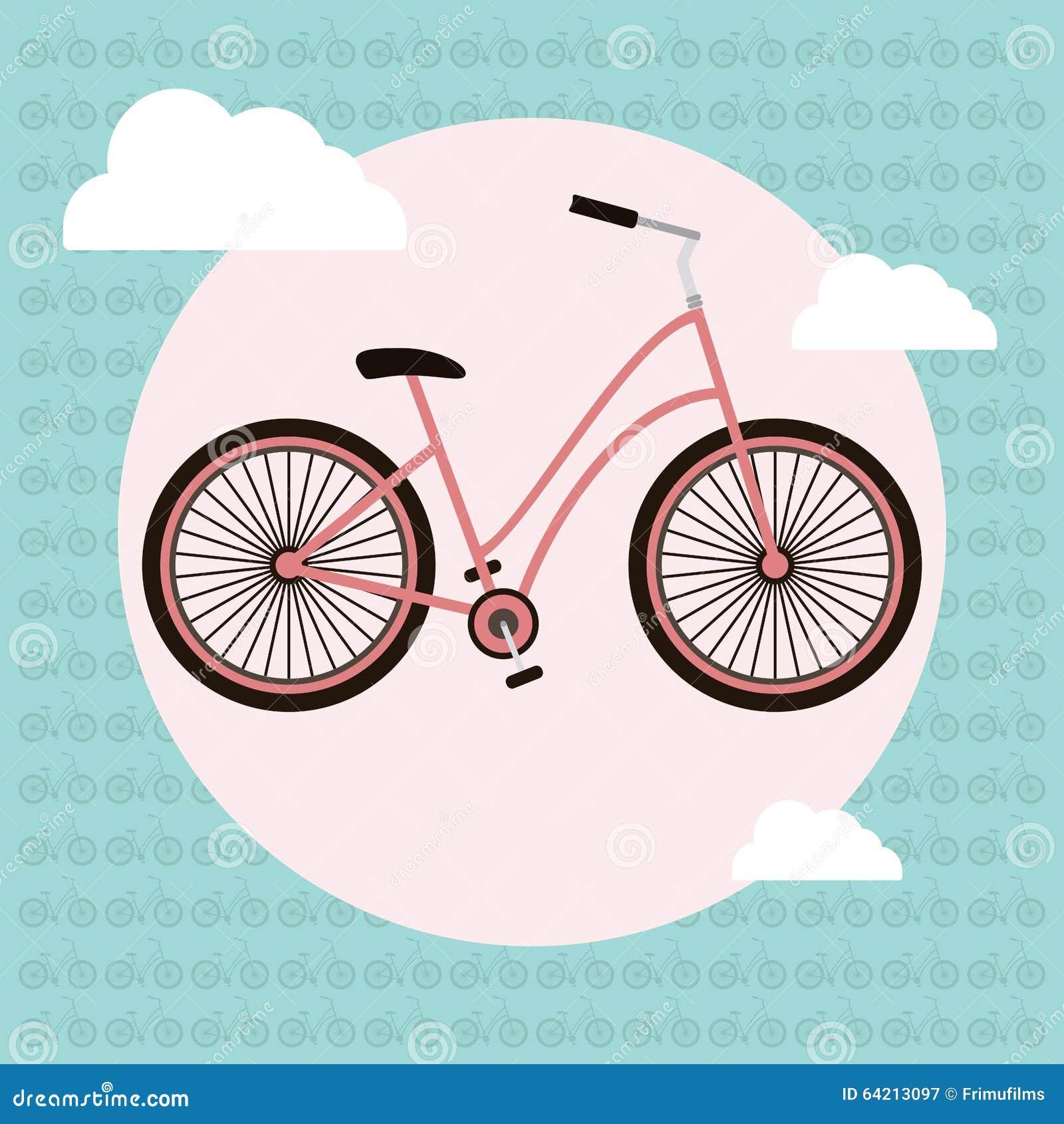 Tarjeta de felicitación del vector de la bicicleta