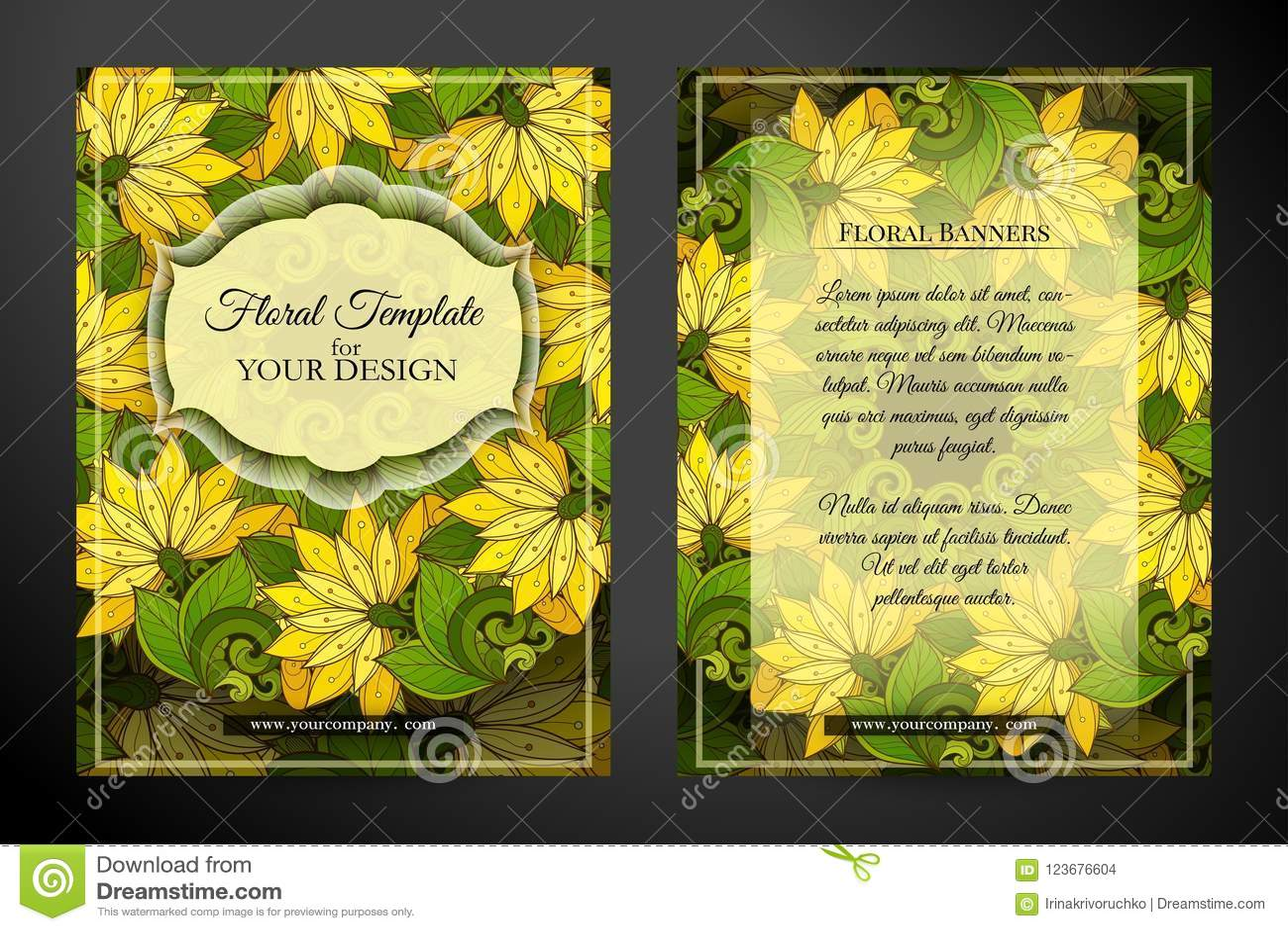 Tarjeta De Felicitación De Doble Cara Coloreada Ilustración