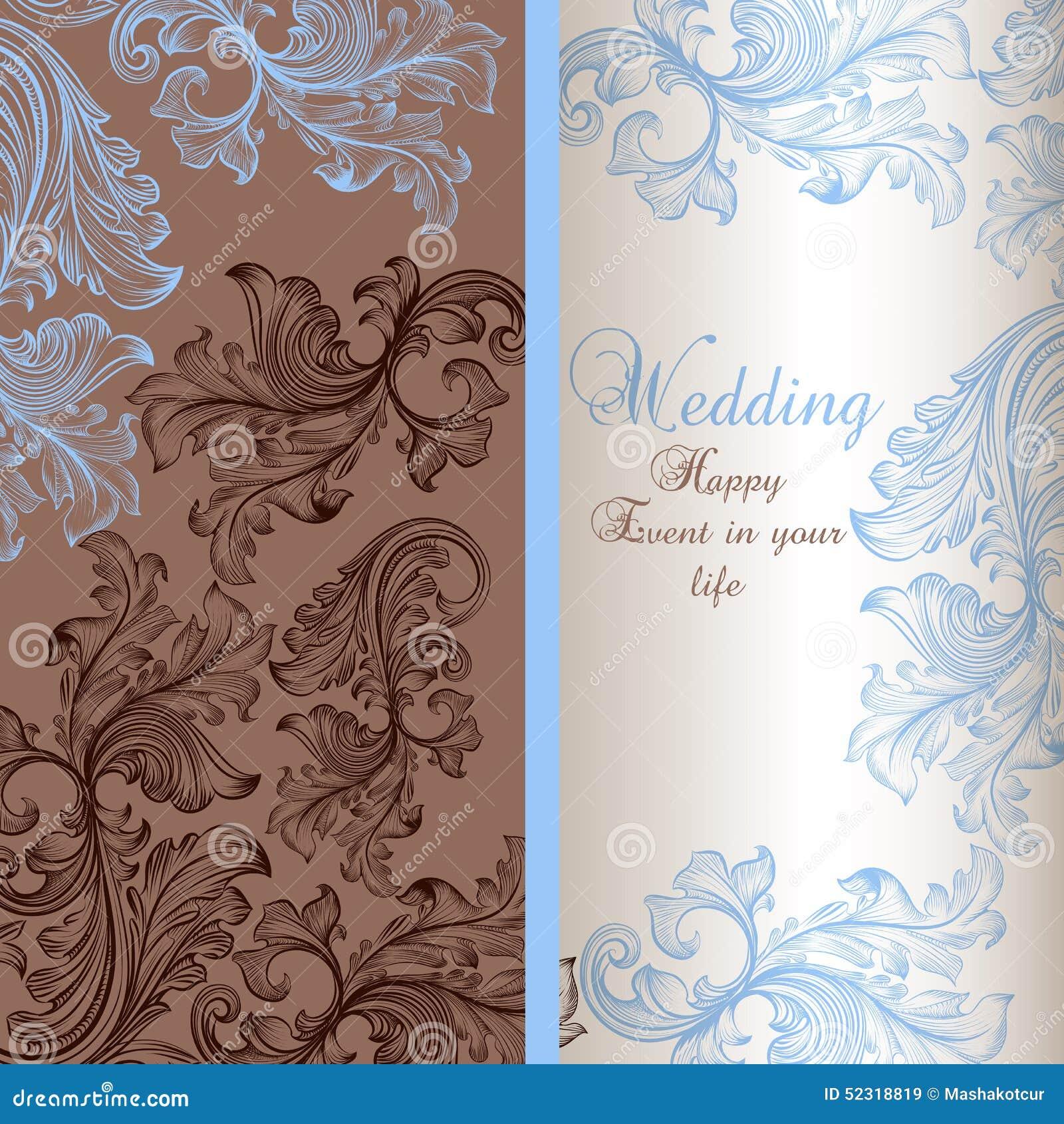 Tarjeta de felicitación elegante de la boda