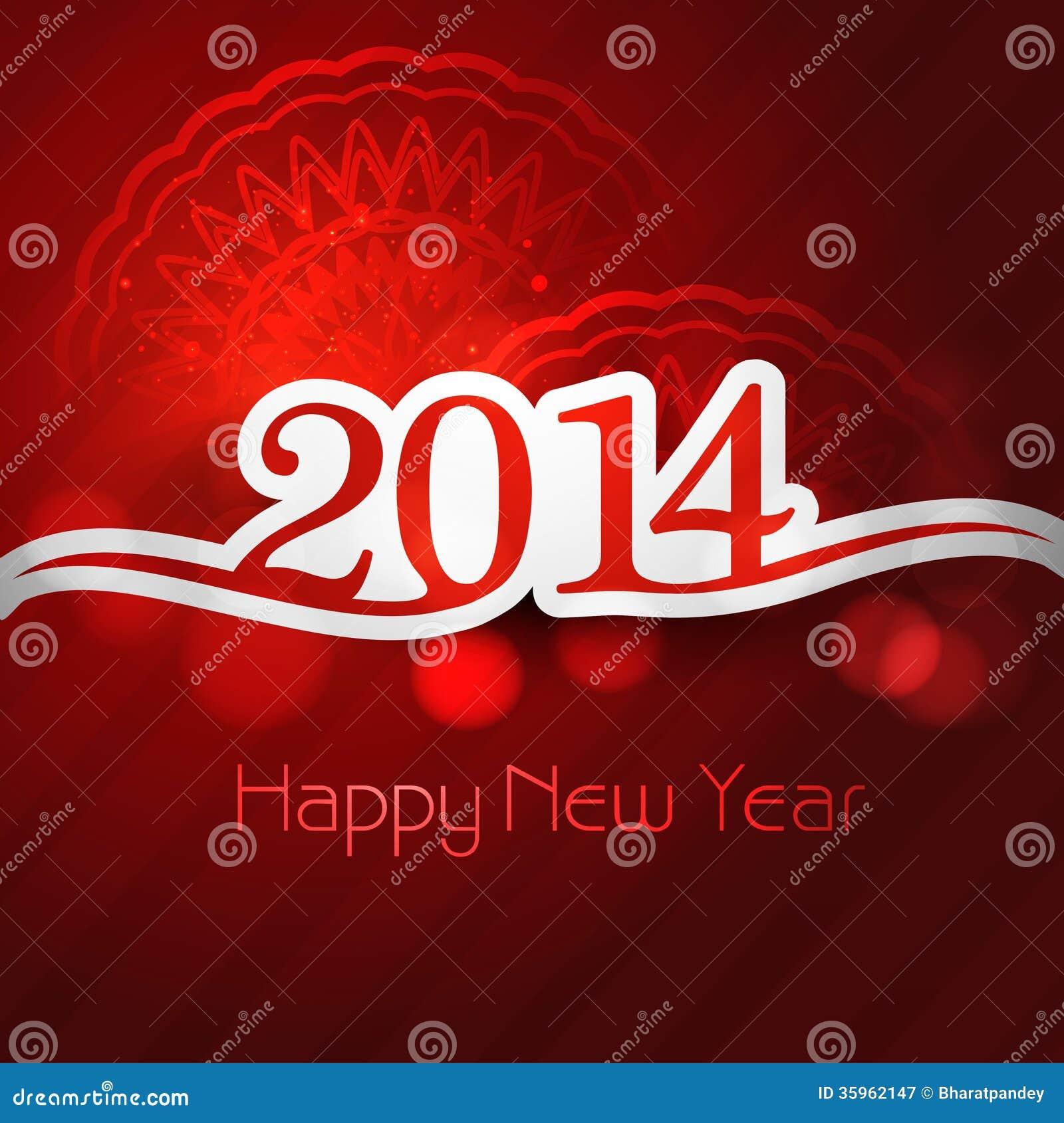 Tarjeta de felicitación elegante para el fondo del día de fiesta de la Feliz Año Nuevo