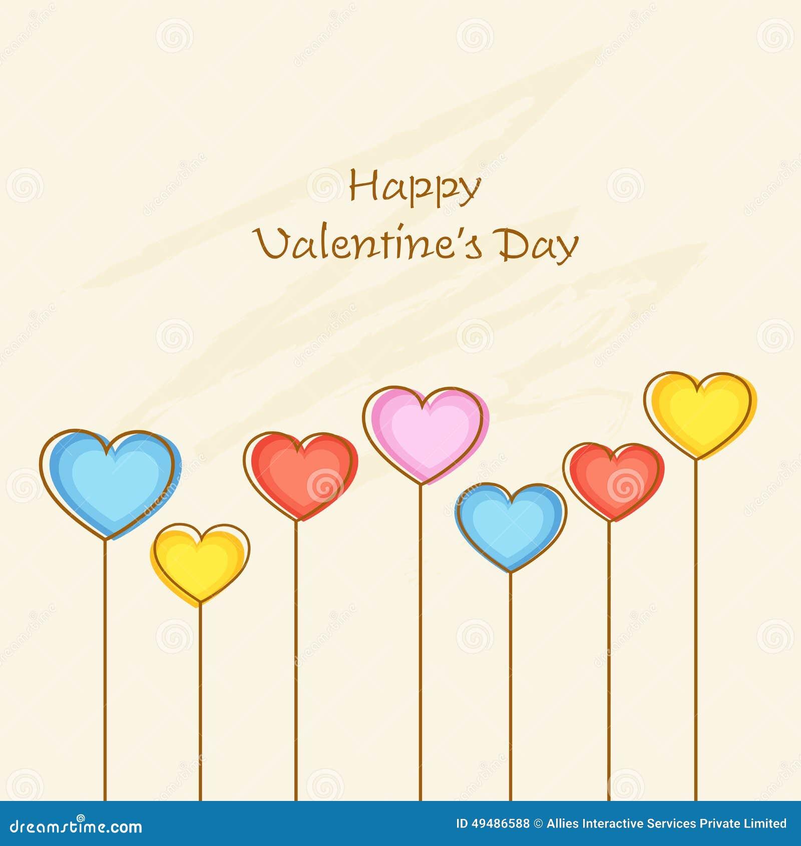 Tarjeta de felicitación feliz de la celebración del día de tarjeta del día de San Valentín