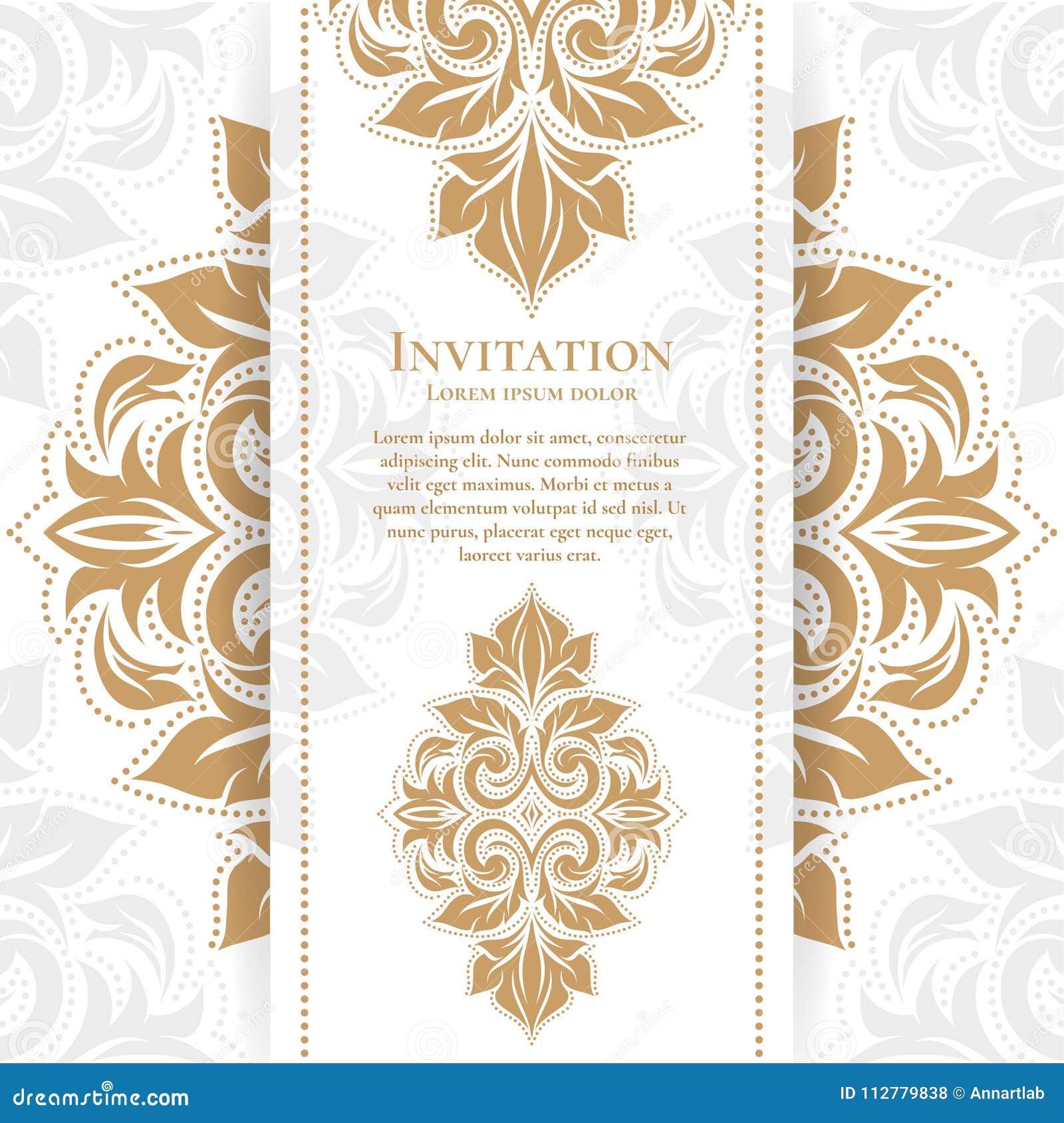 Tarjeta De Felicitación Floral Del Vintage Del Oro Real Plantilla ...