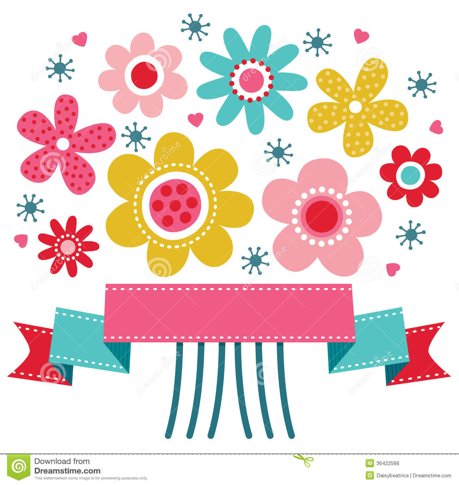 Tarjeta de felicitación floral linda