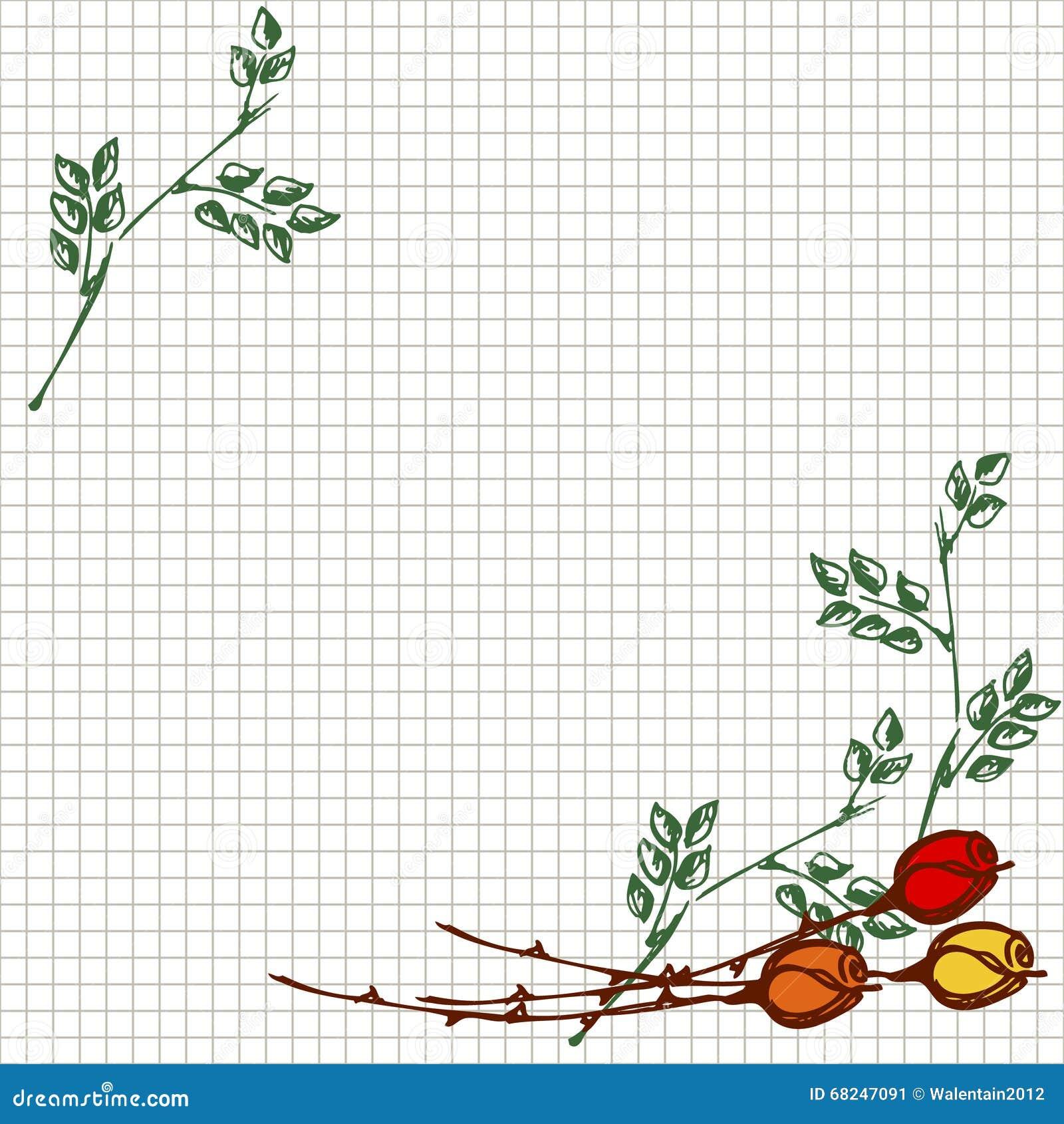 Tarjeta De Felicitación Floral Plantilla A Cuadros Cuadrada Con Las ...