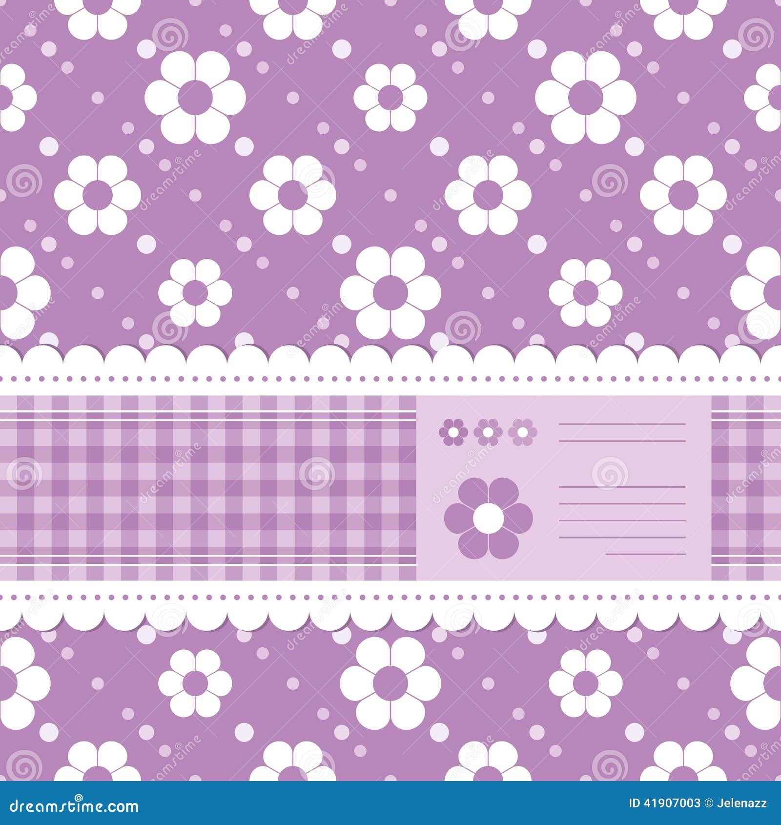 Tarjeta de felicitación florida púrpura