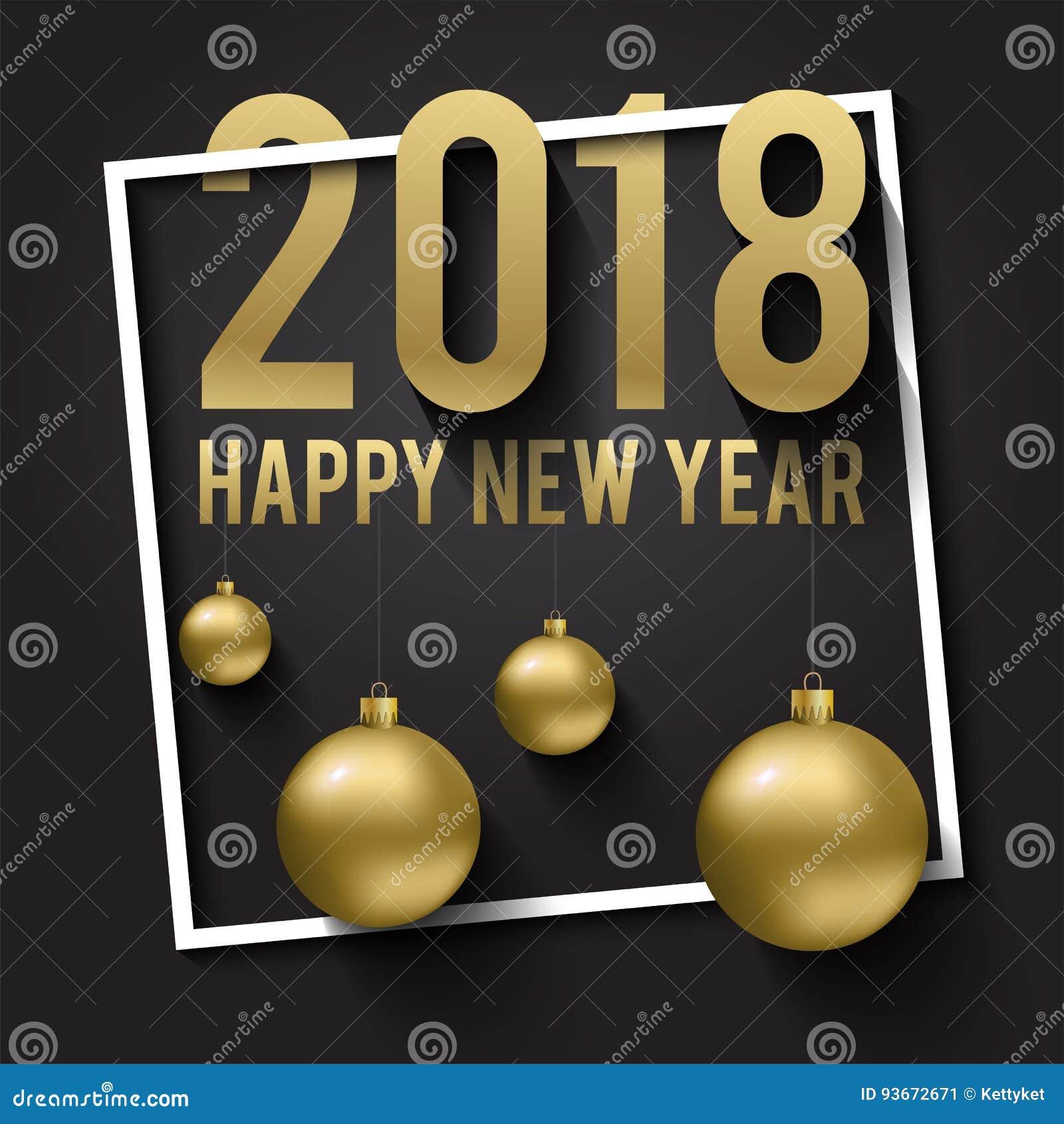 Tarjeta De Felicitación Invitación Con La Feliz Año Nuevo