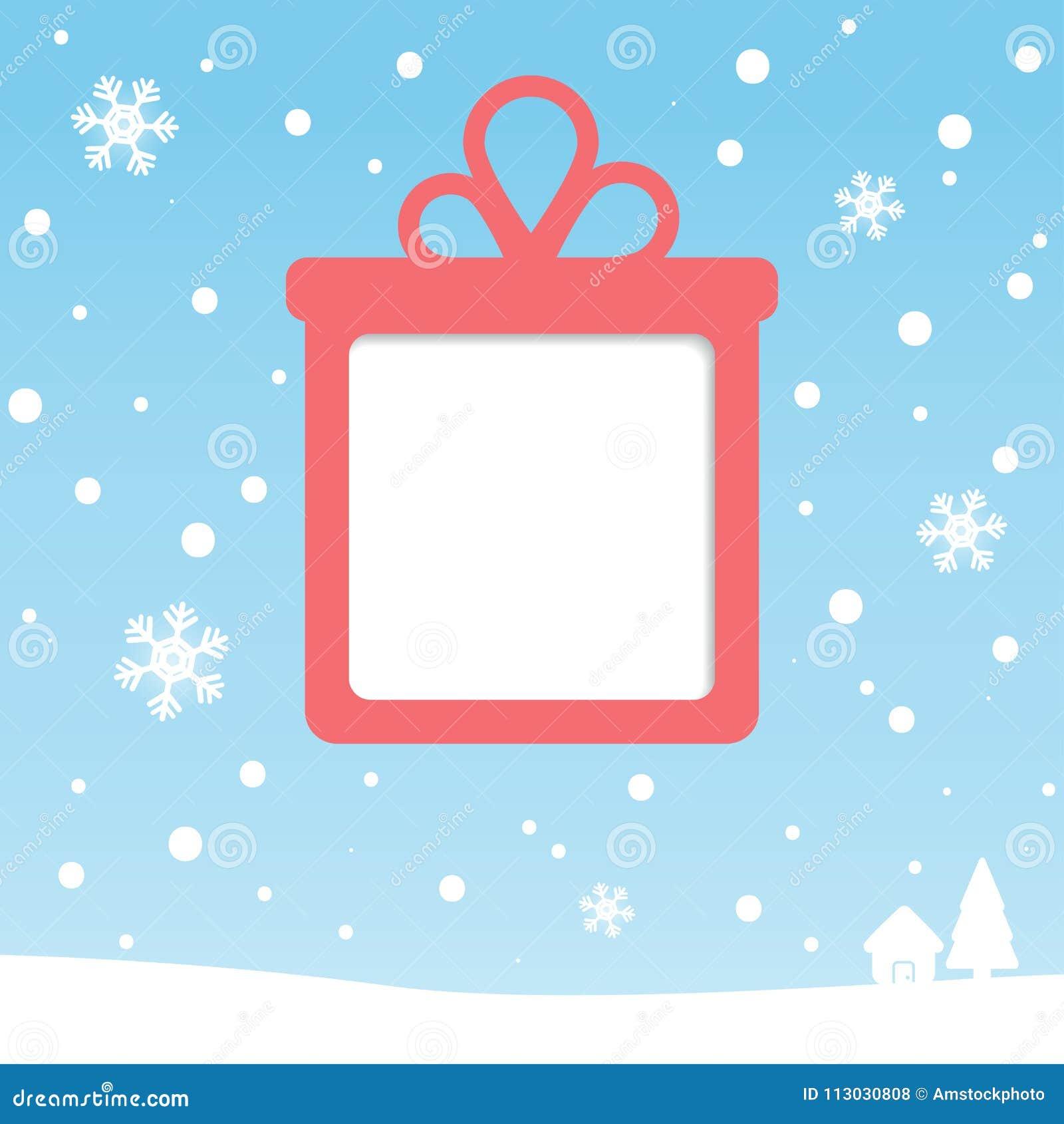 Tarjeta de felicitación de la caja de regalo