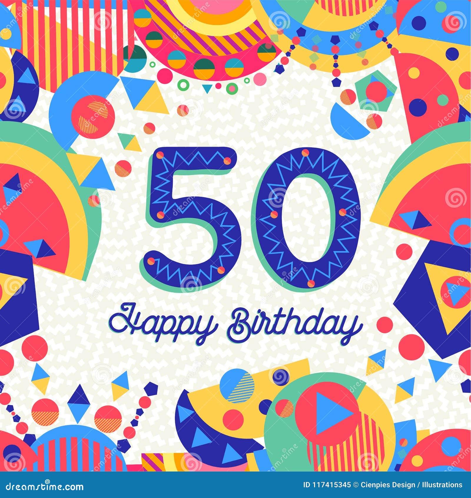 50 Tarjeta De Felicitación De La Fiesta De Cumpleaños De