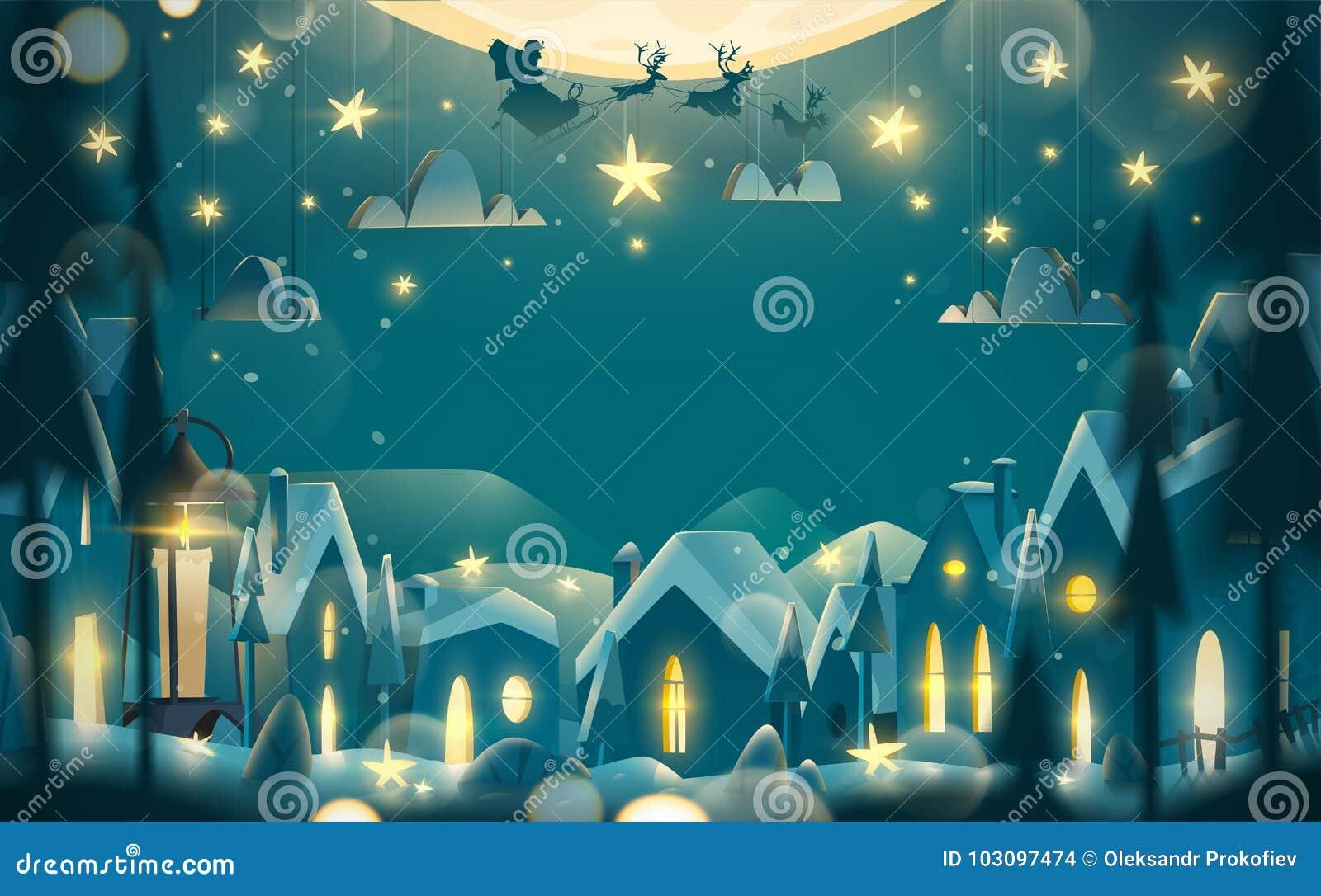 Tarjeta de felicitación de las vacaciones de invierno en estilo de la historieta