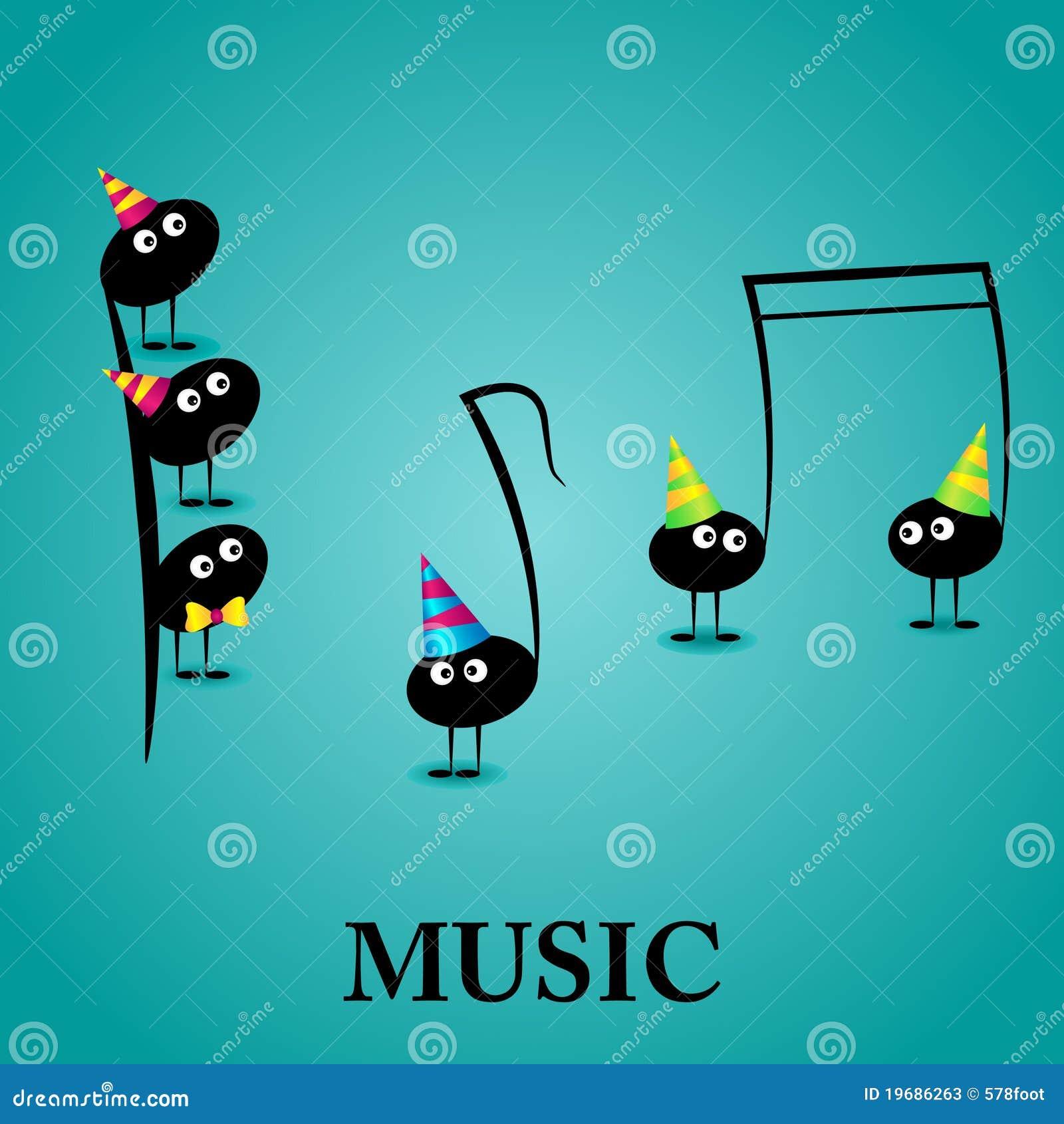 Tarjeta De Felicitación Musical Ilustración Del Vector