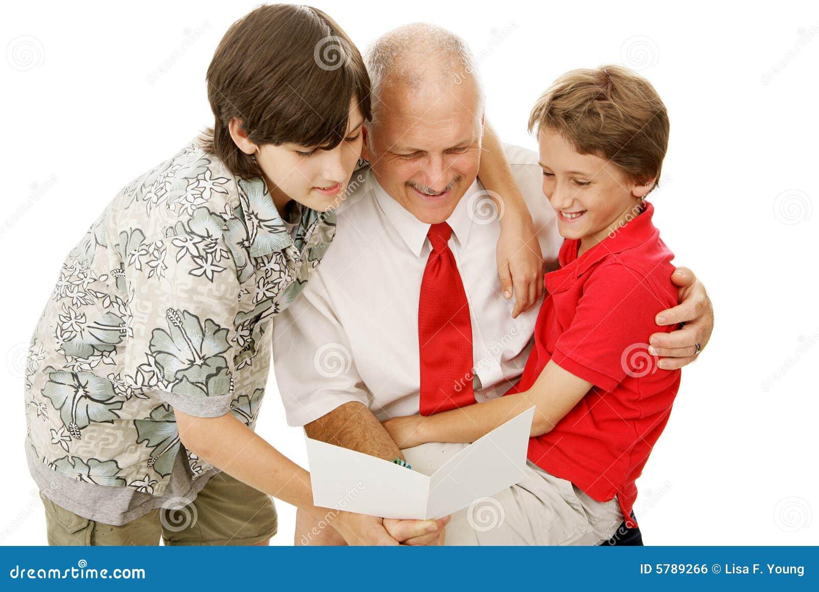 Tarjeta de felicitación para el papá