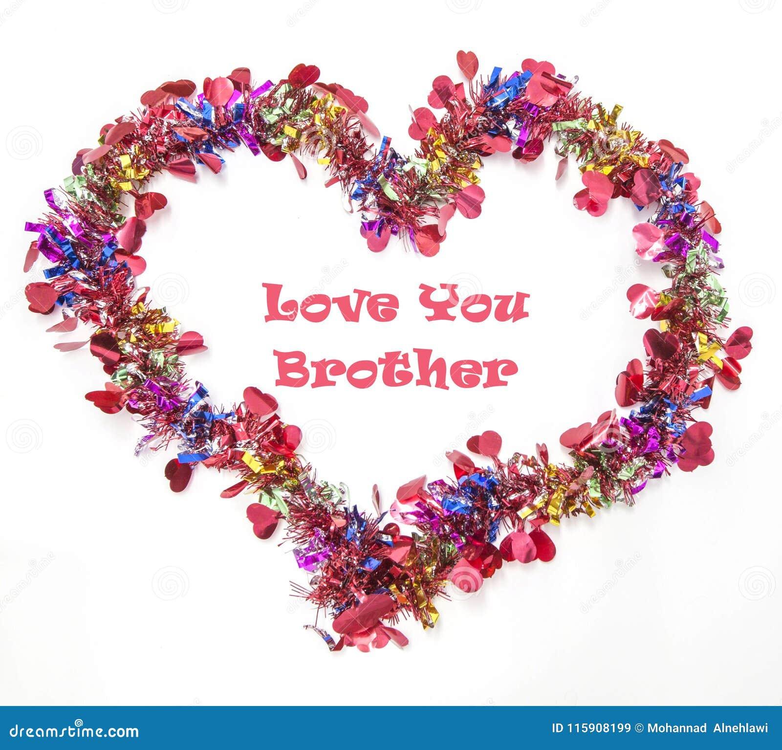 Tarjeta de felicitación para expresar su amor para su hermano