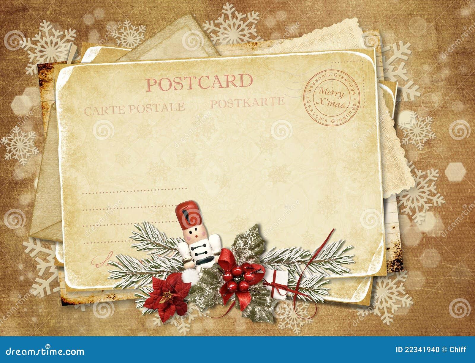 Tarjeta de felicitaci n de la vendimia de la navidad con - Tarjetas felicitacion navidad ...