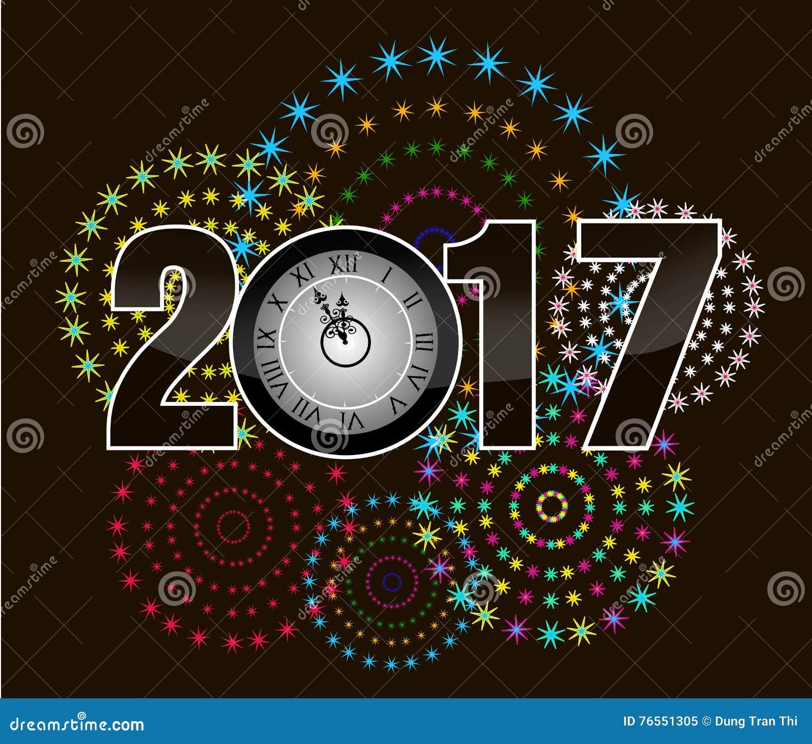 Tarjeta de 2017 felicitaciones de la feliz a o nuevo - Felicitaciones ano 2017 ...