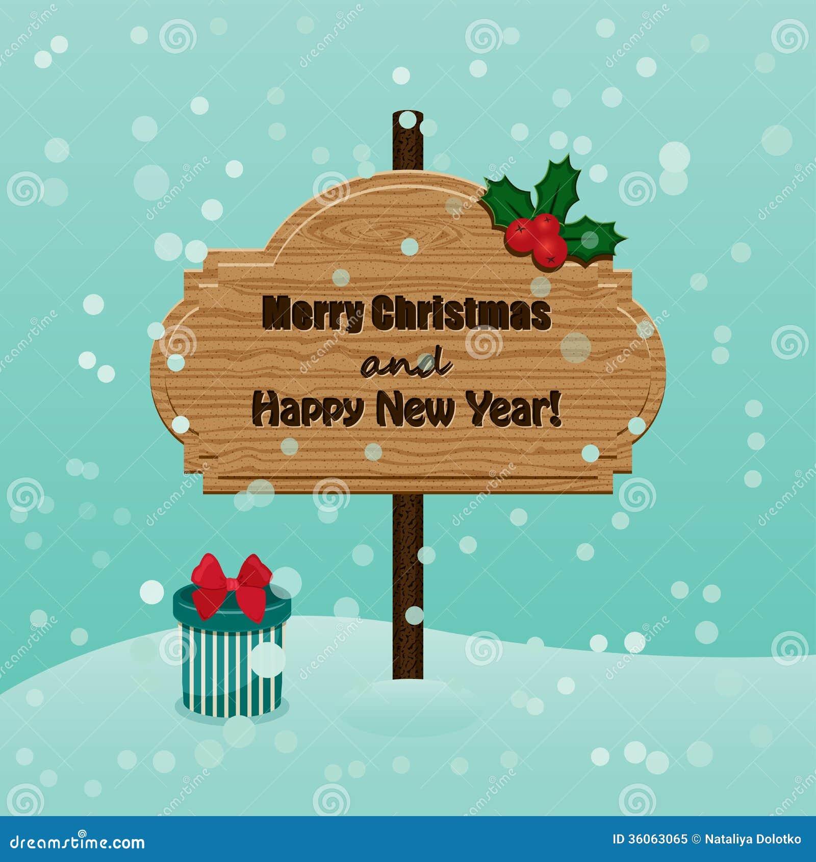 Tarjeta de felicitaciones de la navidad retra y del a o - Felicitaciones para ano nuevo ...