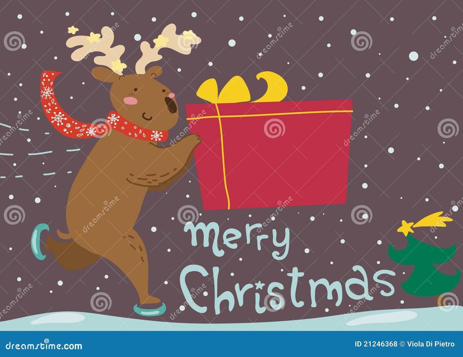 Felicitaciones De Navidad Divertidad.Tarjeta De Felicitaciones Patinadora Divertida De La Navidad