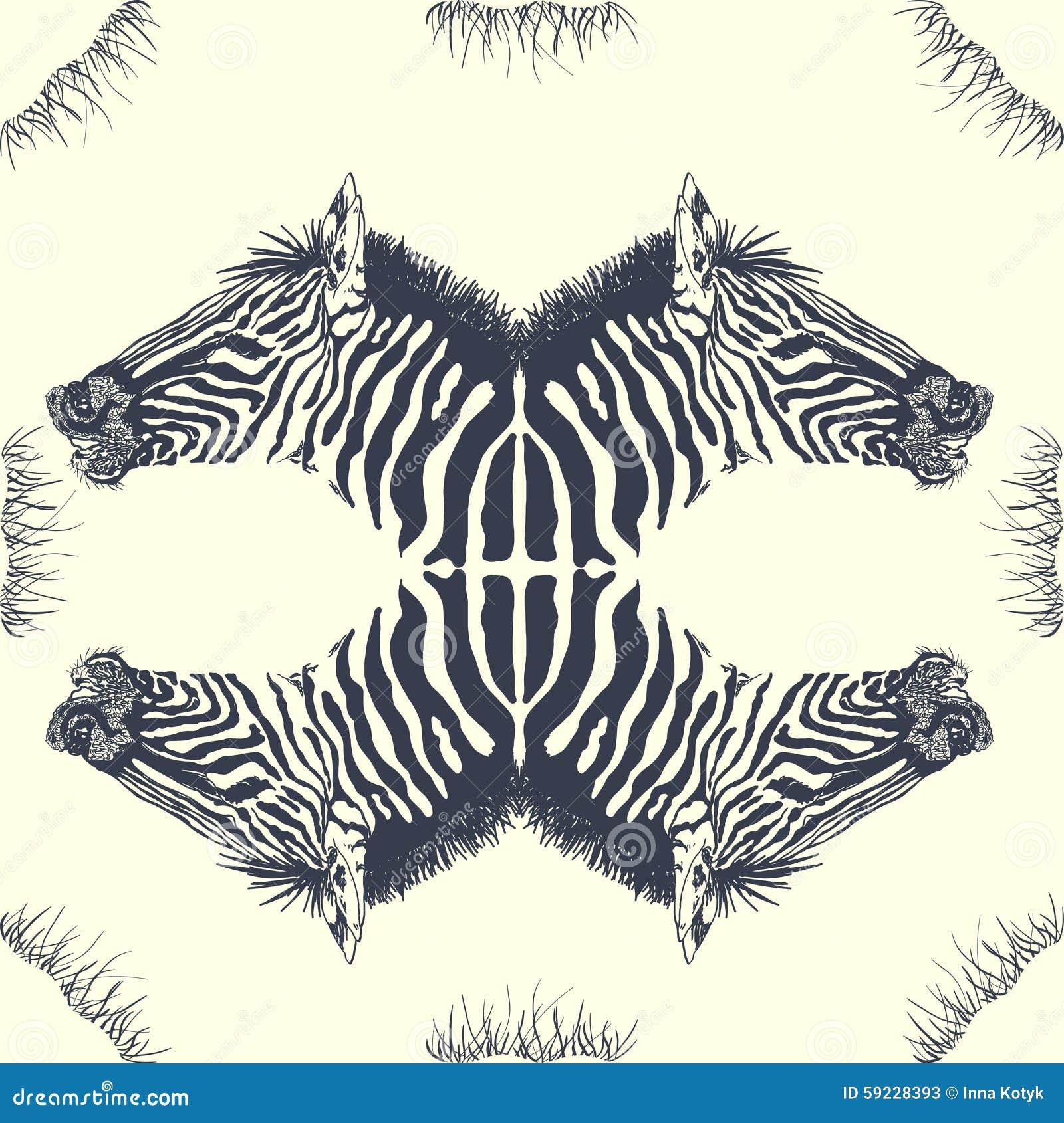 Download Tarjeta de la cebra ilustración del vector. Ilustración de hermoso - 59228393