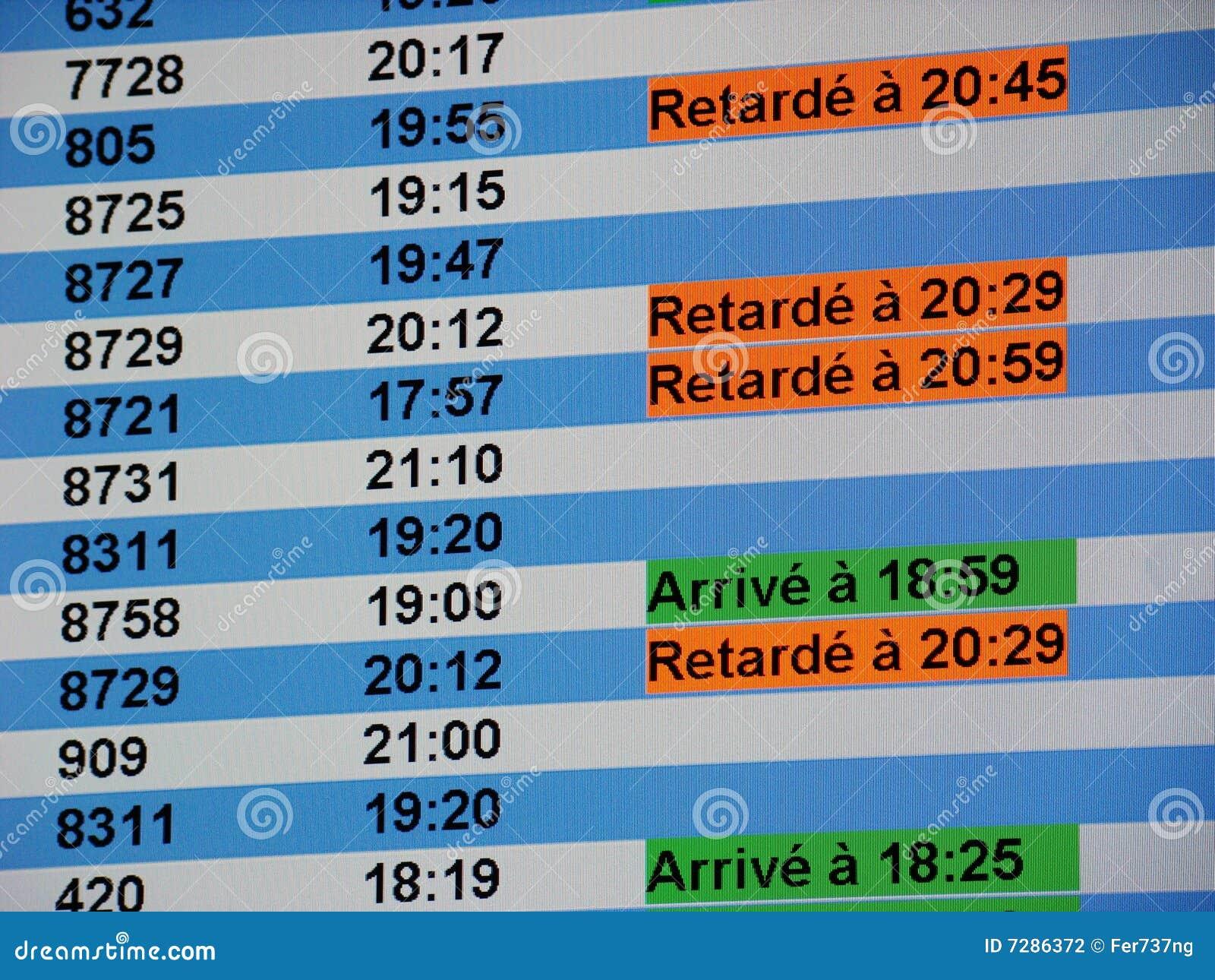 Tarjeta de la información del aeropuerto