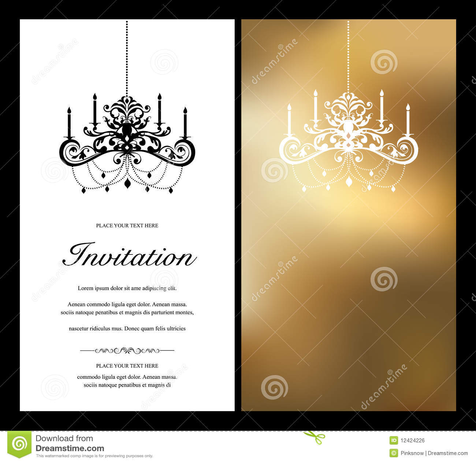 Tarjeta De La Invitación Ilustración Del Vector Ilustración