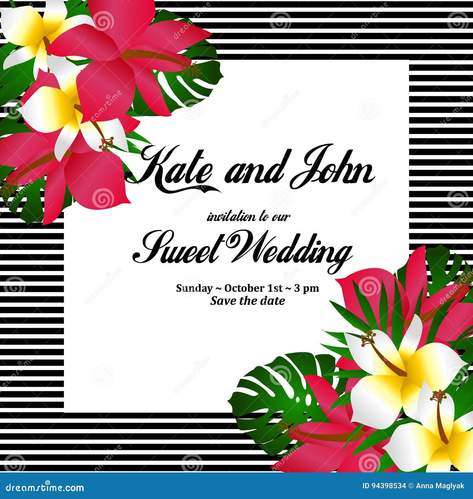 Matrimonio Tema Tropical : Tarjeta de la invitación boda fondo tropical las
