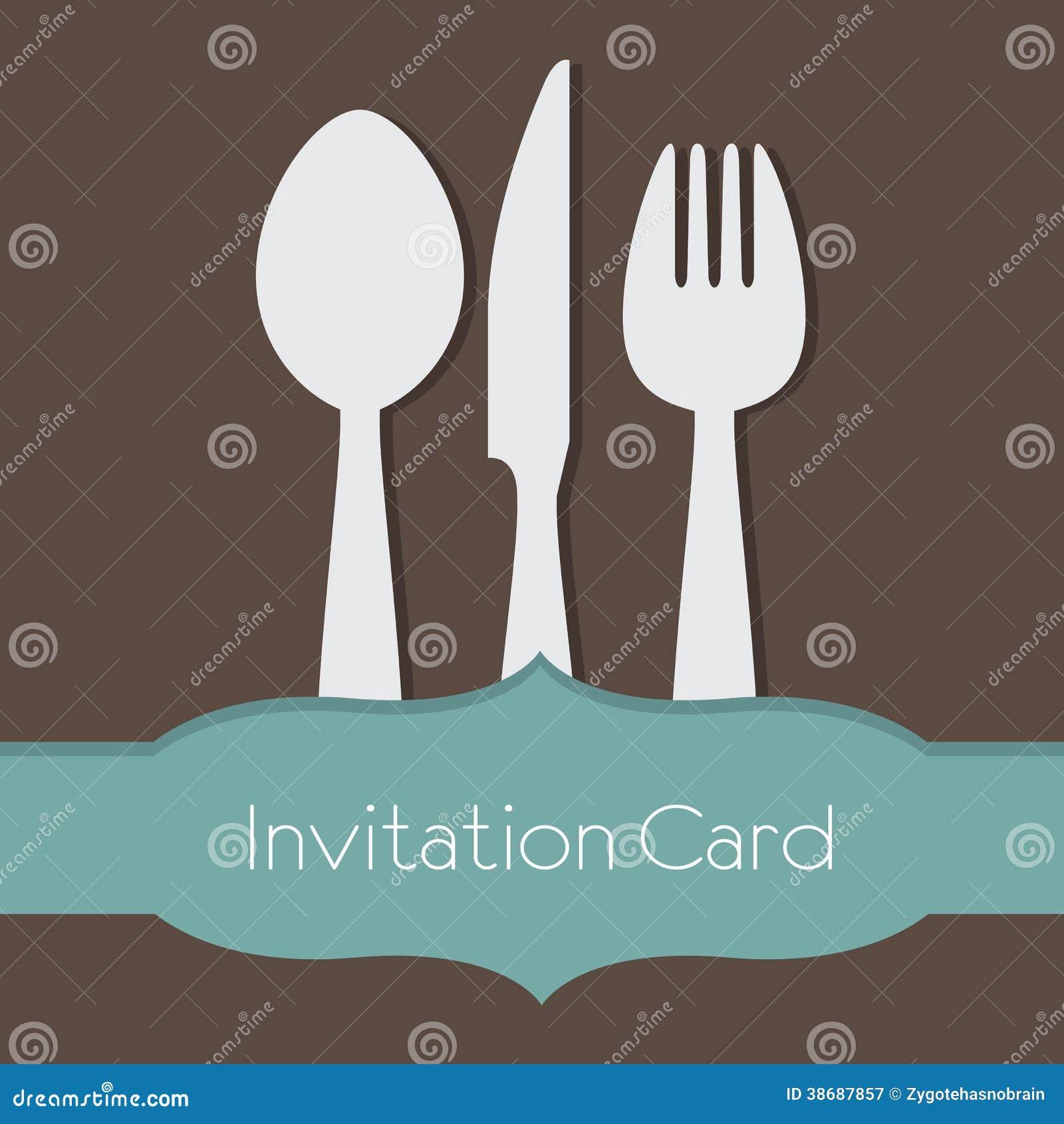 Tarjeta De La Invitación Del Concepto De La Comida