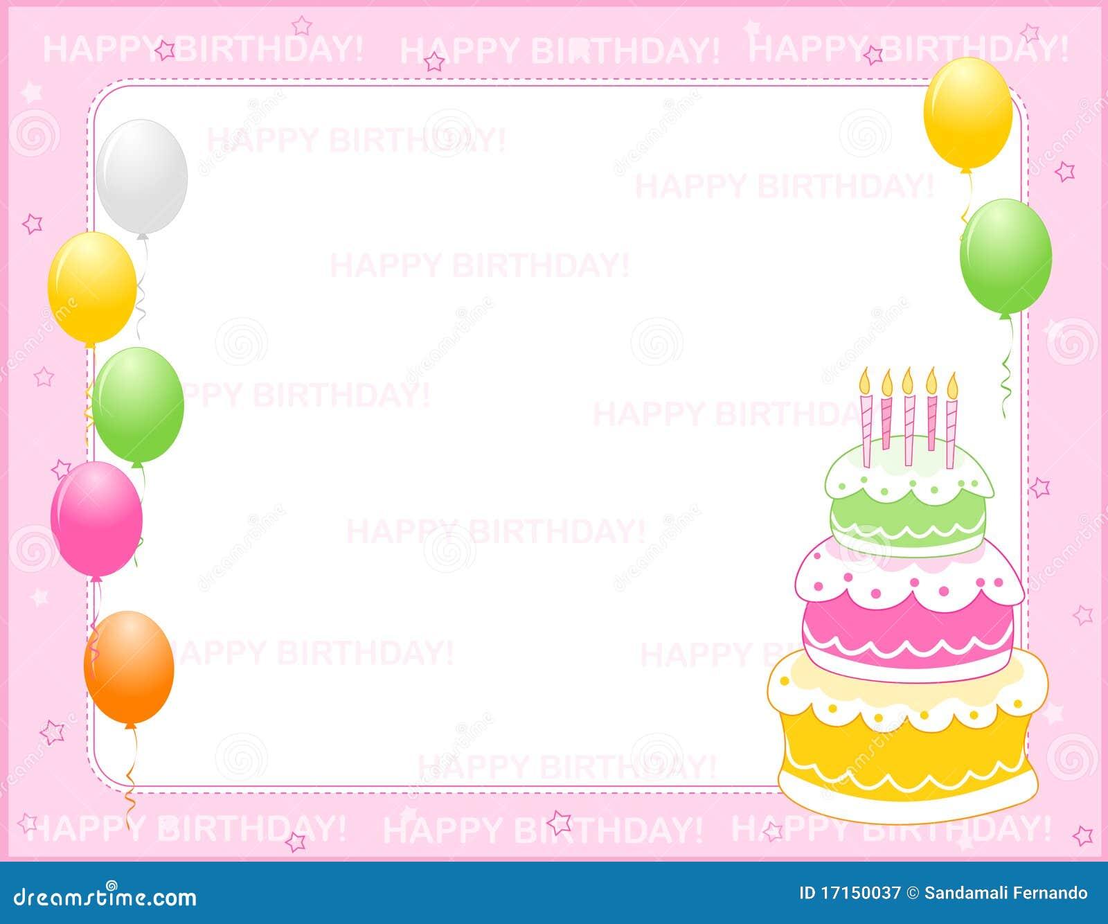 Tarjeta De La Invitación Del Cumpleaños Ilustración del ...