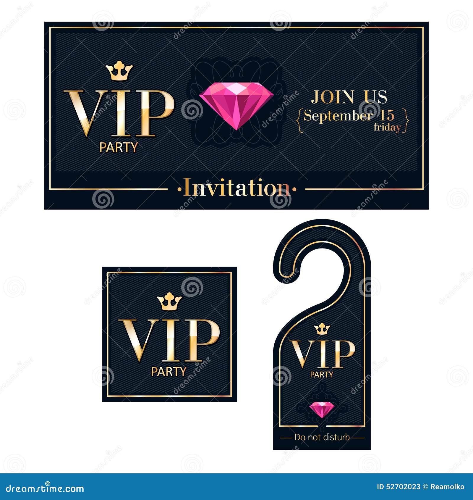 Tarjeta De La Invitación Del Vip Suspensión Amonestadora E