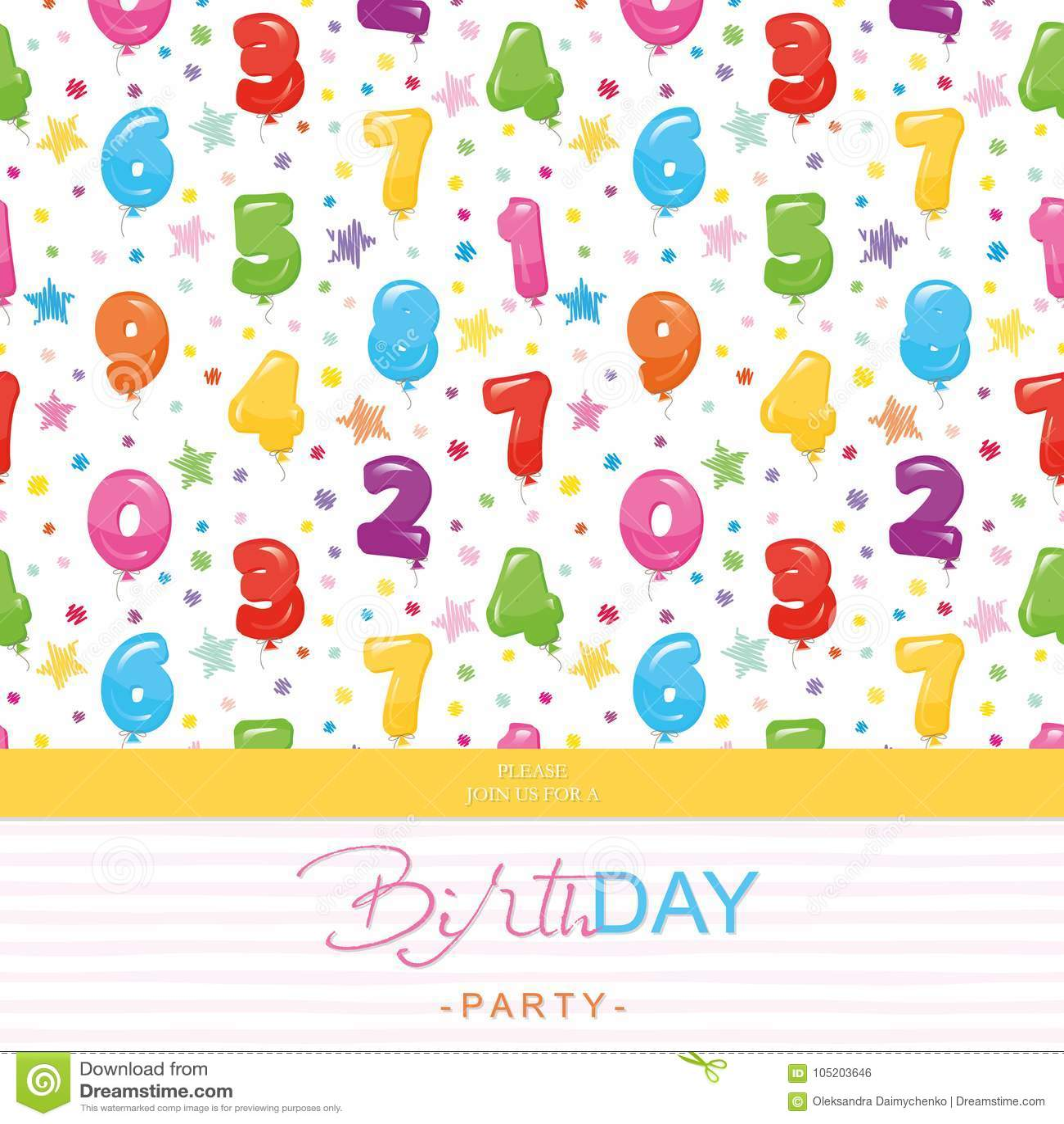 Tarjeta De La Invitación De La Fiesta De Cumpleaños Para Los