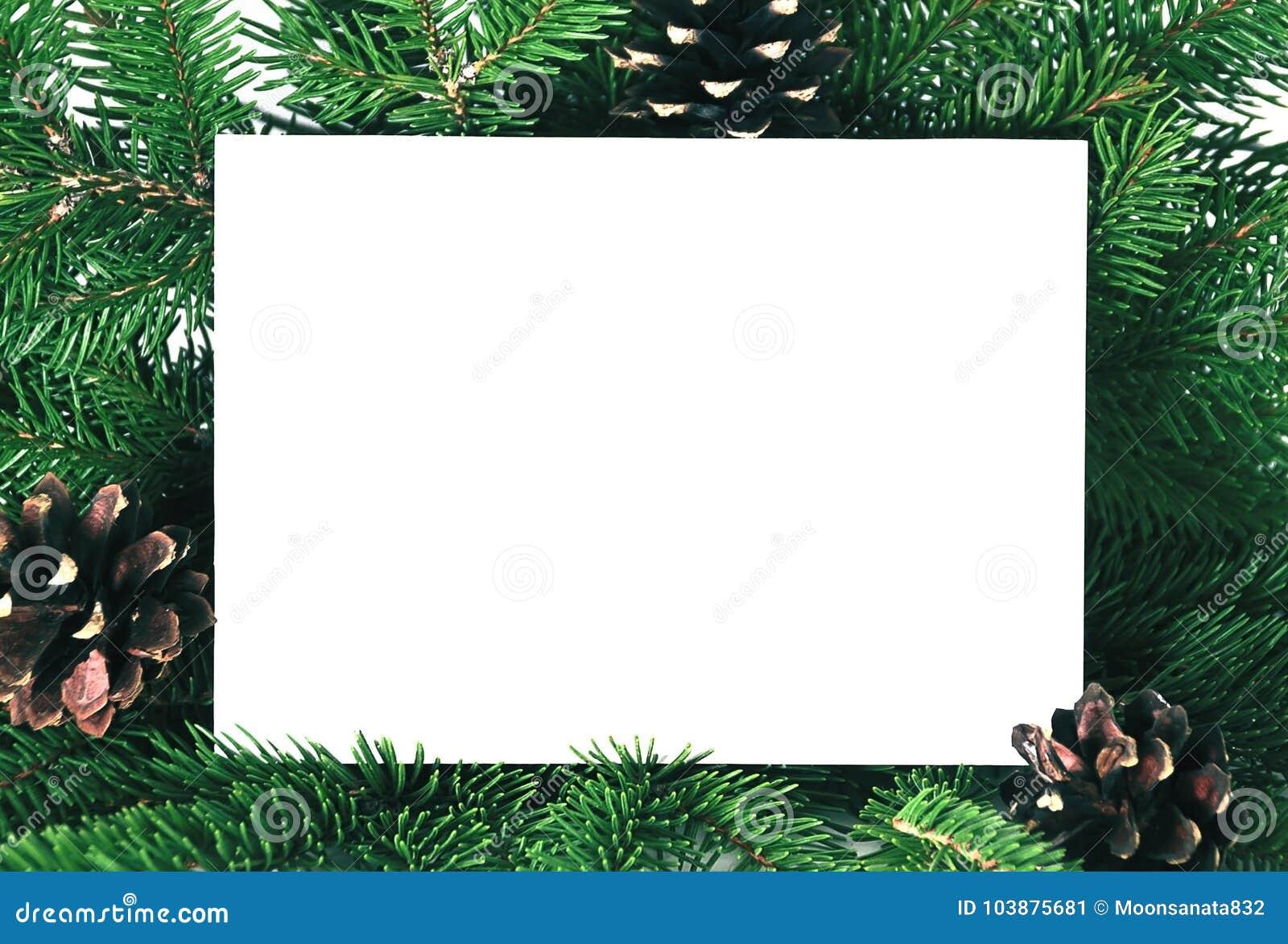 Tarjeta De La Invitación De La Navidad Para El Saludo Del