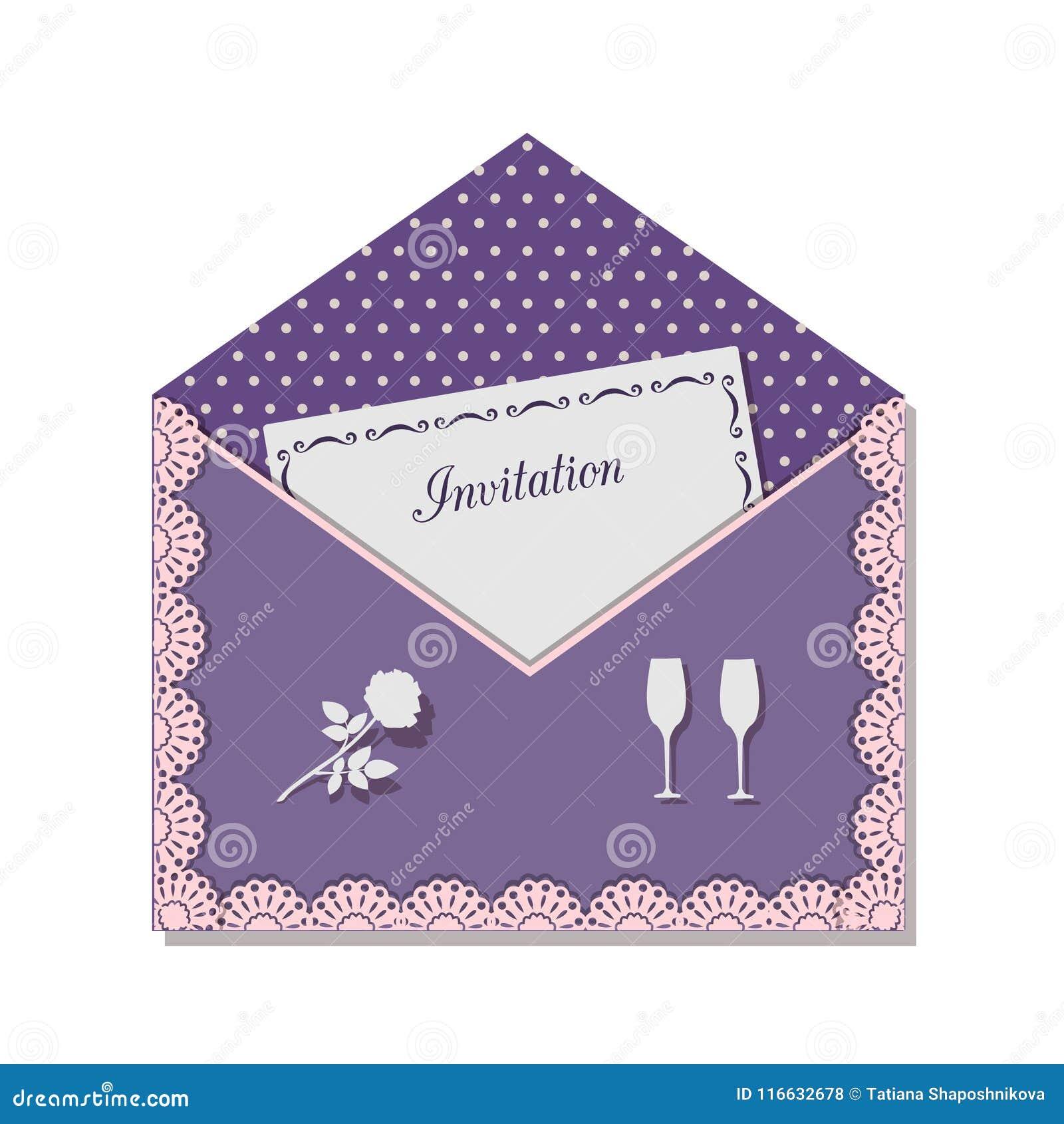Tarjeta De La Invitación Para Una Reunión Romántica