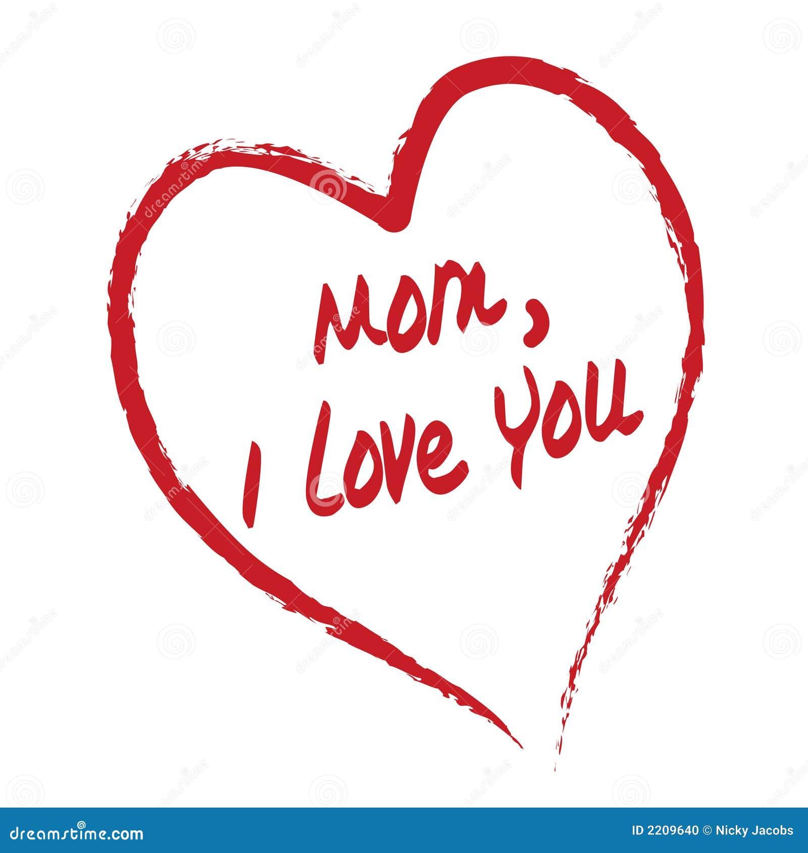 Tarjeta de la mama te quiero
