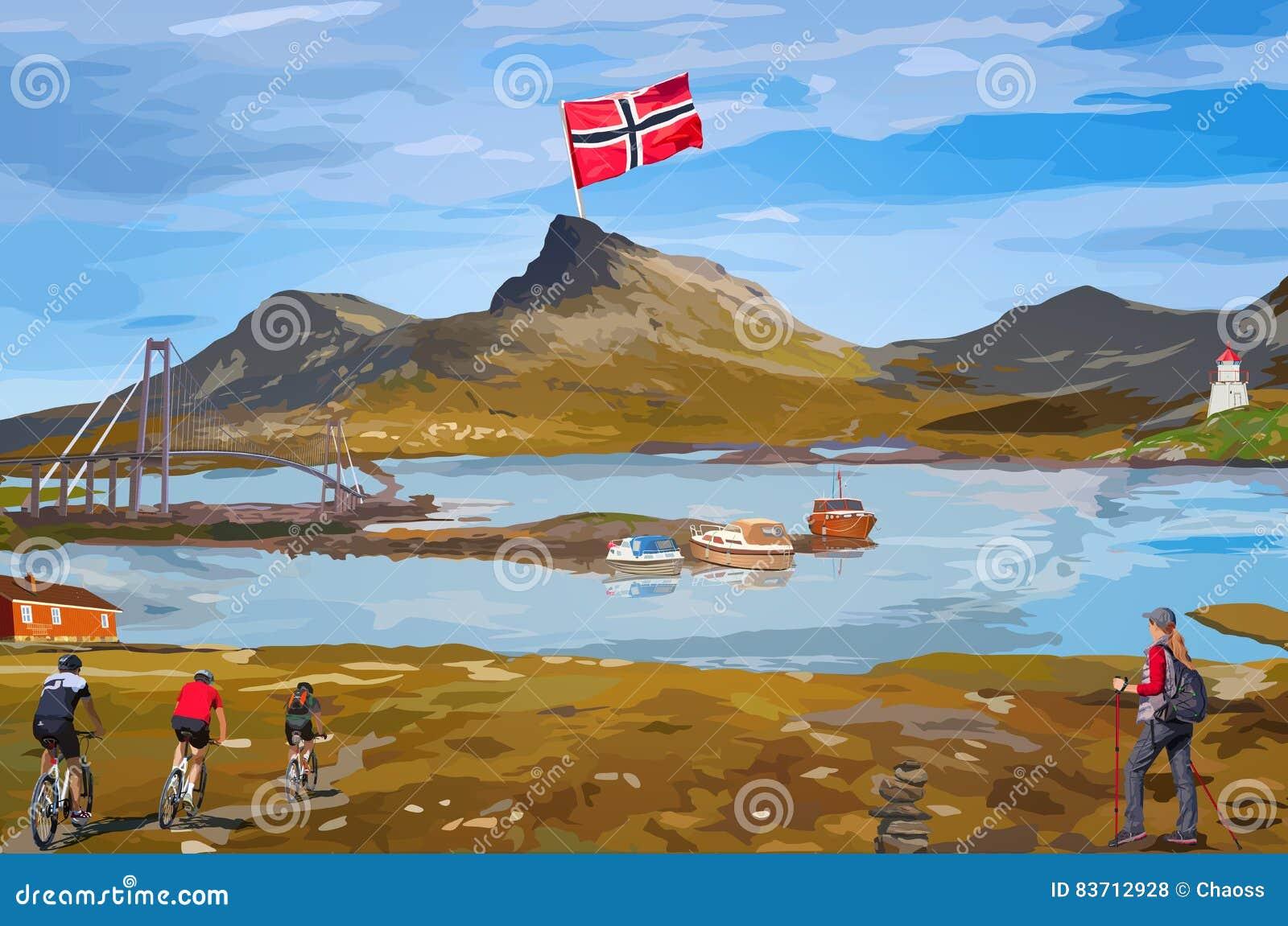 Tarjeta de la recepción de Noruega