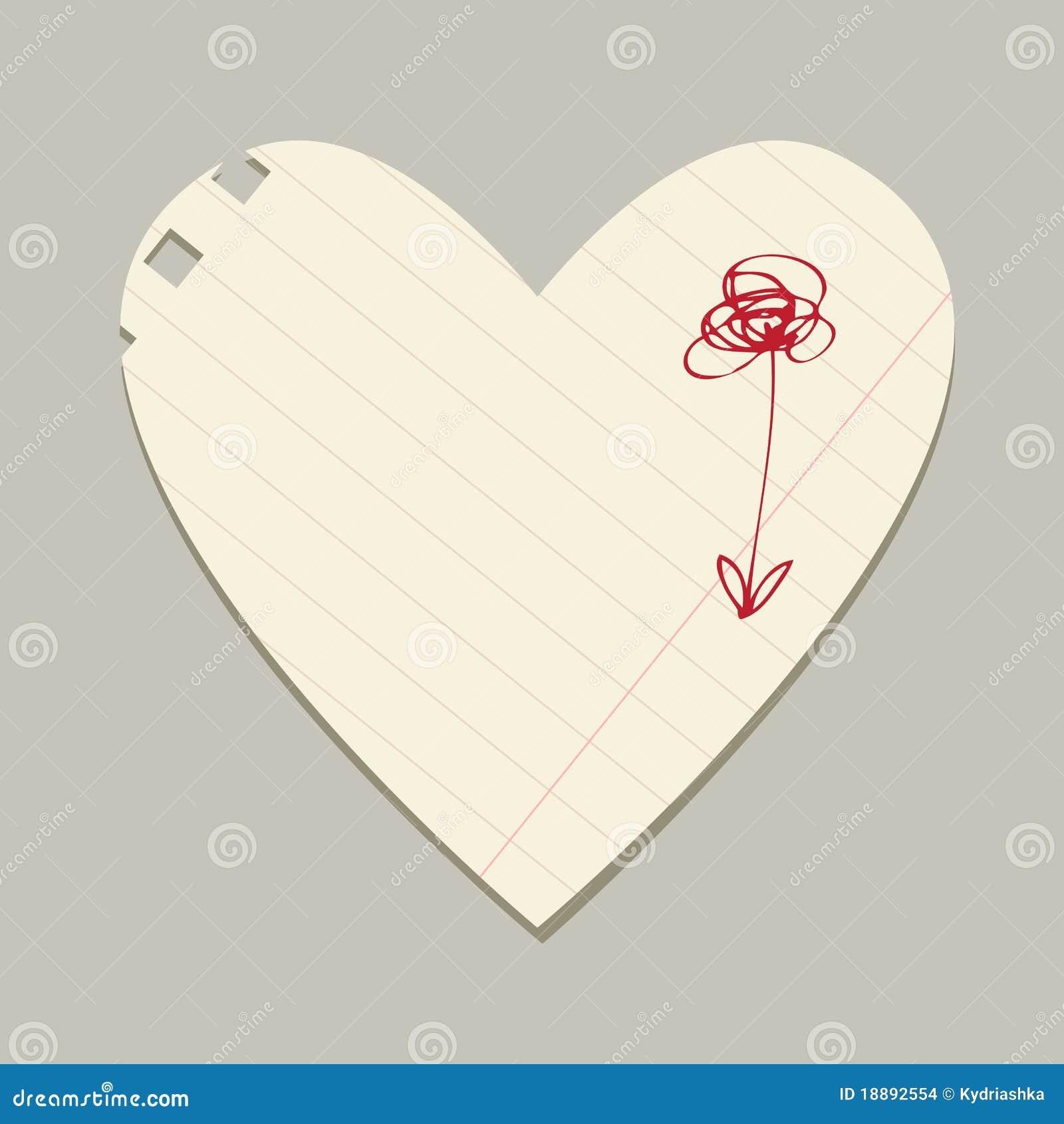 Tarjeta De La Tarjeta Del Día De San Valentín De La Hoja Del Papel ...