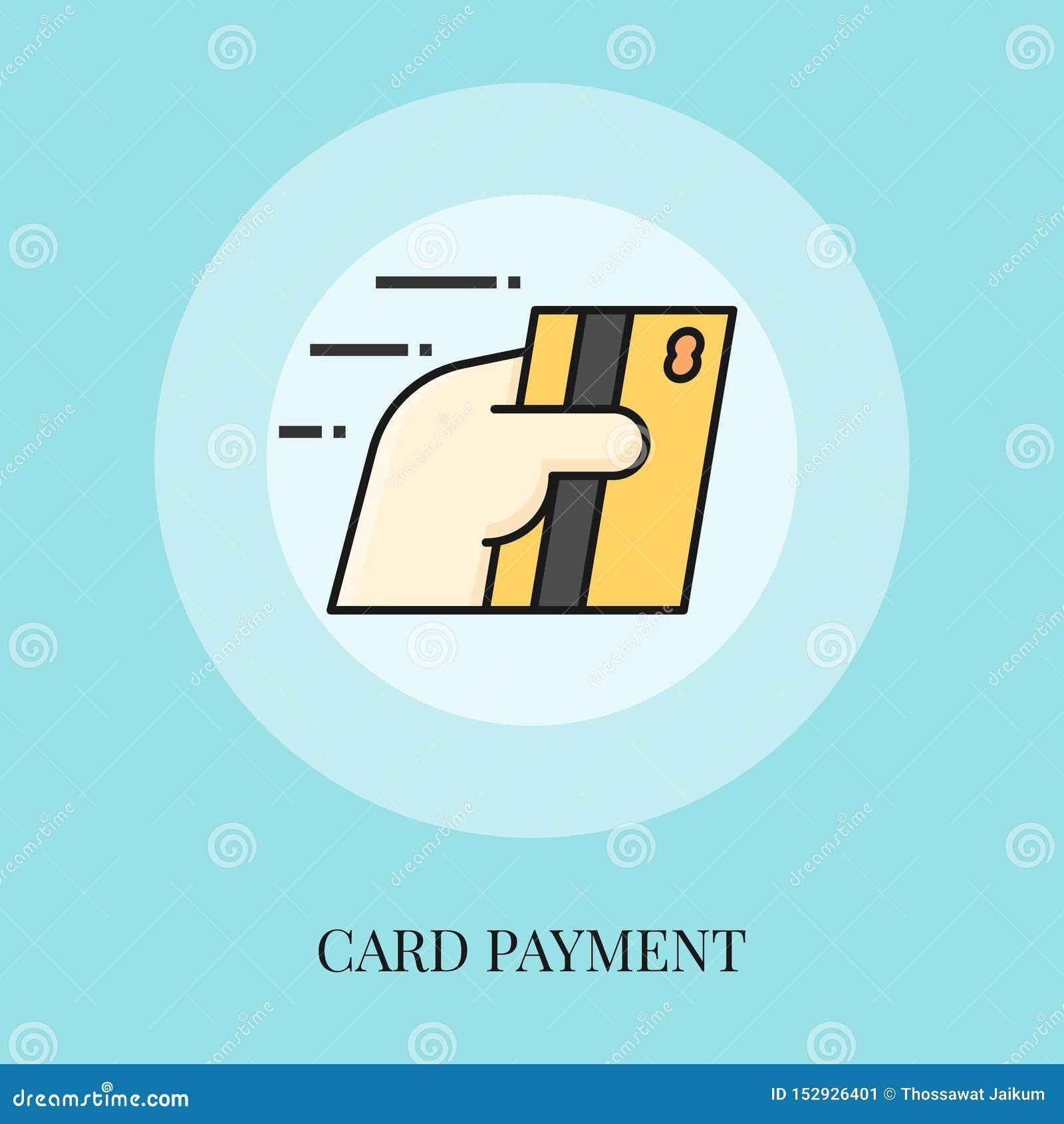 Tarjeta de la tenencia de la mano, concepto del pago de la tarjeta