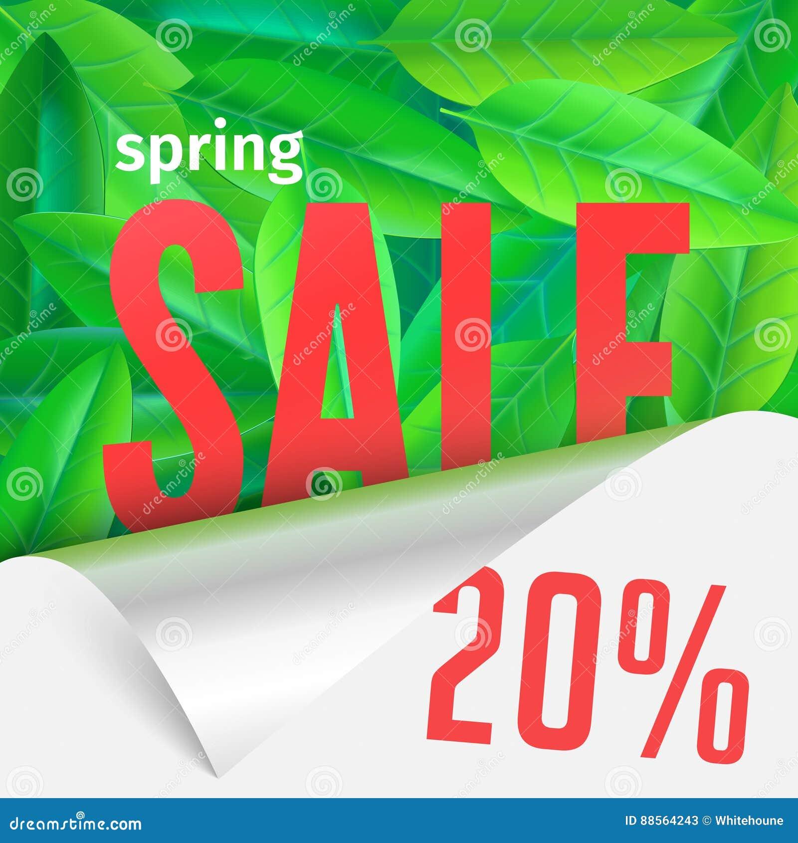 Tarjeta de la venta de la primavera