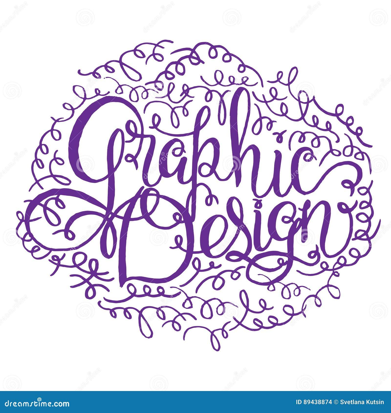 Tarjeta De Letras Del Diseño Gráfico Frase Dibujada Mano Del