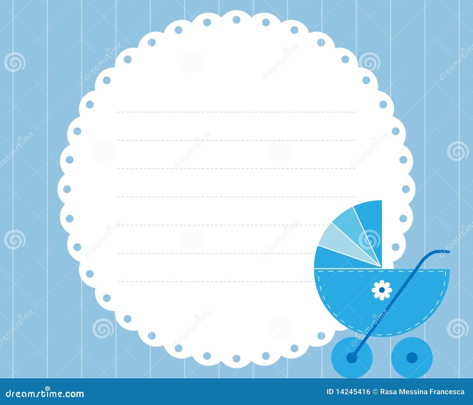 Tarjeta de llegada del beb ilustraci n del vector for Beb it