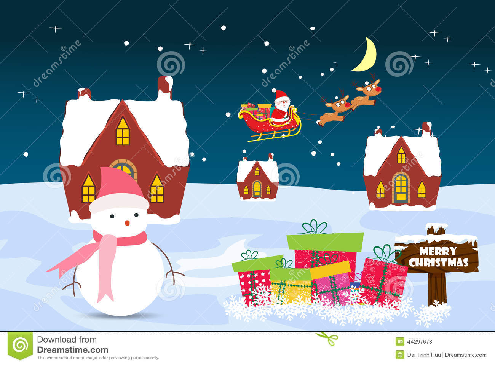 Tarjeta de navidad con la casa de santa claus del mu eco - La casa de la navidad ...