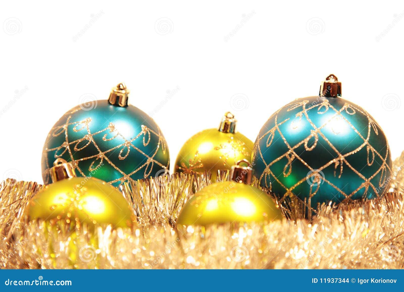 Tarjeta de navidad con las decoraciones del navidad rbol - Decoraciones del arbol de navidad ...