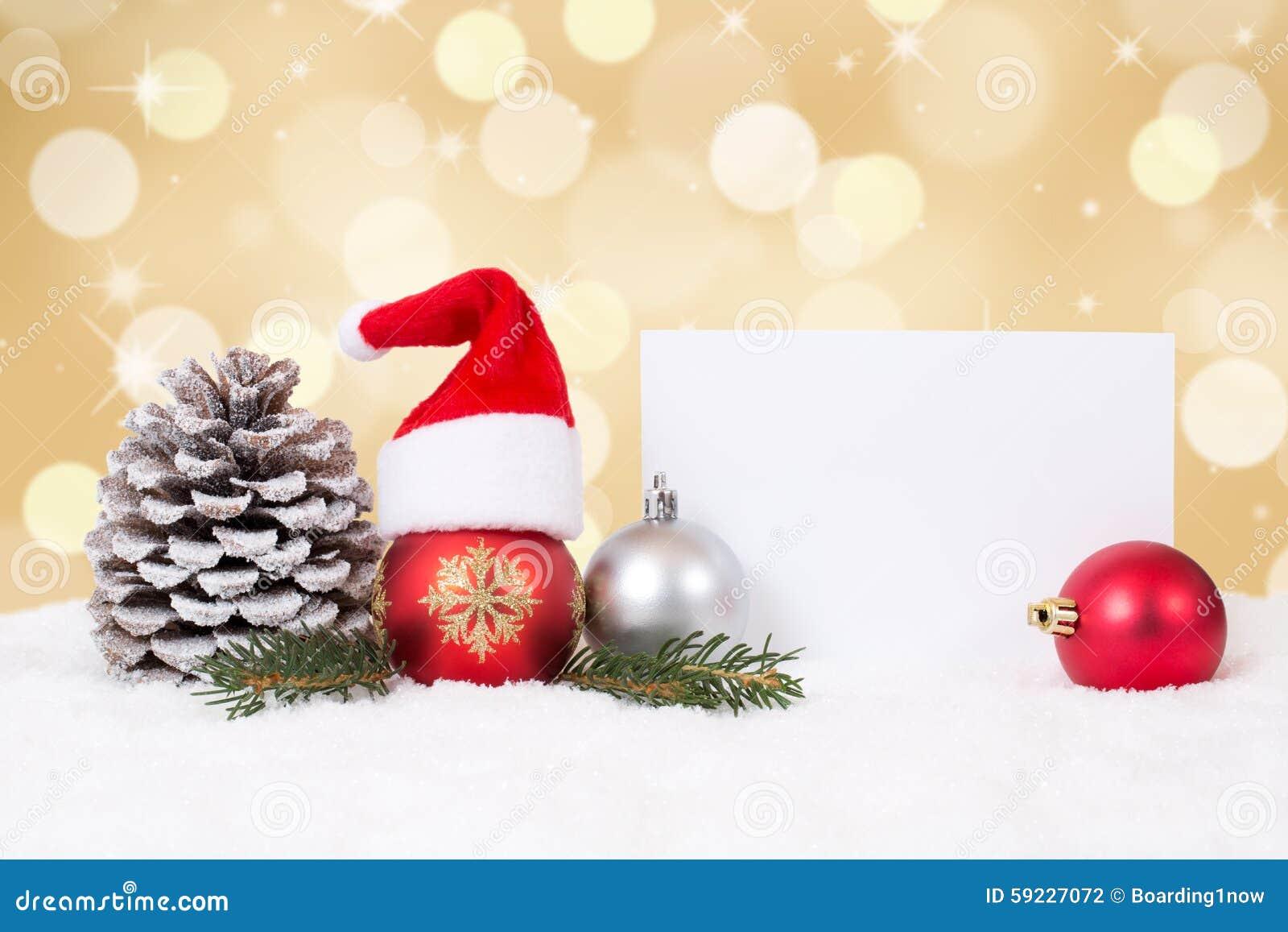 Download Tarjeta De Navidad Con Los Ornamentos, Fondo De Oro, Copyspace Y Foto de archivo - Imagen de bolas, ornamento: 59227072