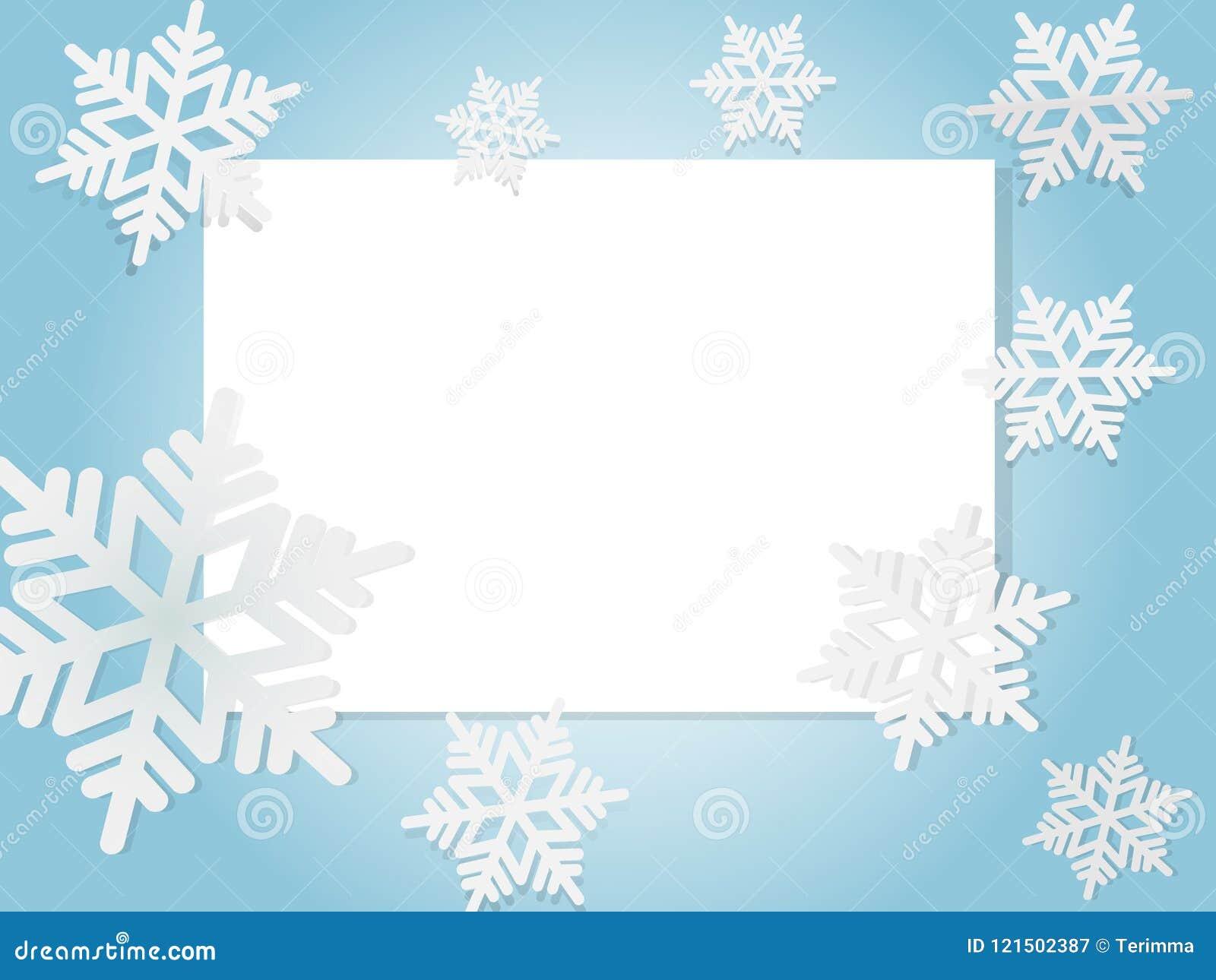 Vector Copo De Nieve: Copos De Nieve Azules Ilustración Del Vector Ilustración