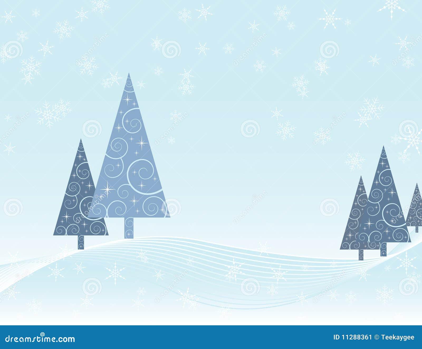 Tarjeta de Navidad de la escena del invierno