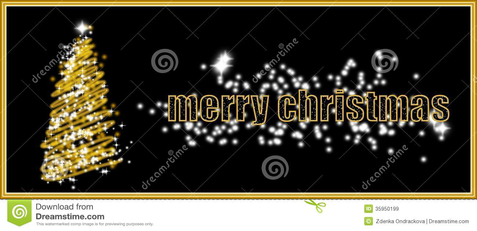 Tarjeta de Navidad de oro