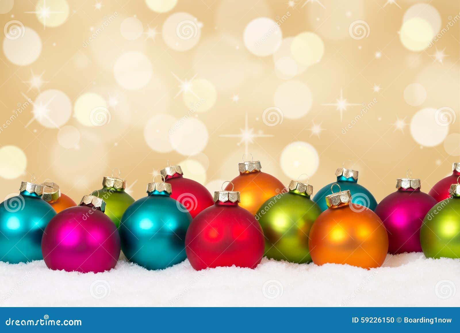 Download Tarjeta De Navidad Decoración De Oro Del Fondo De Muchas Bolas Coloridas Foto de archivo - Imagen de colorido, ornamento: 59226150