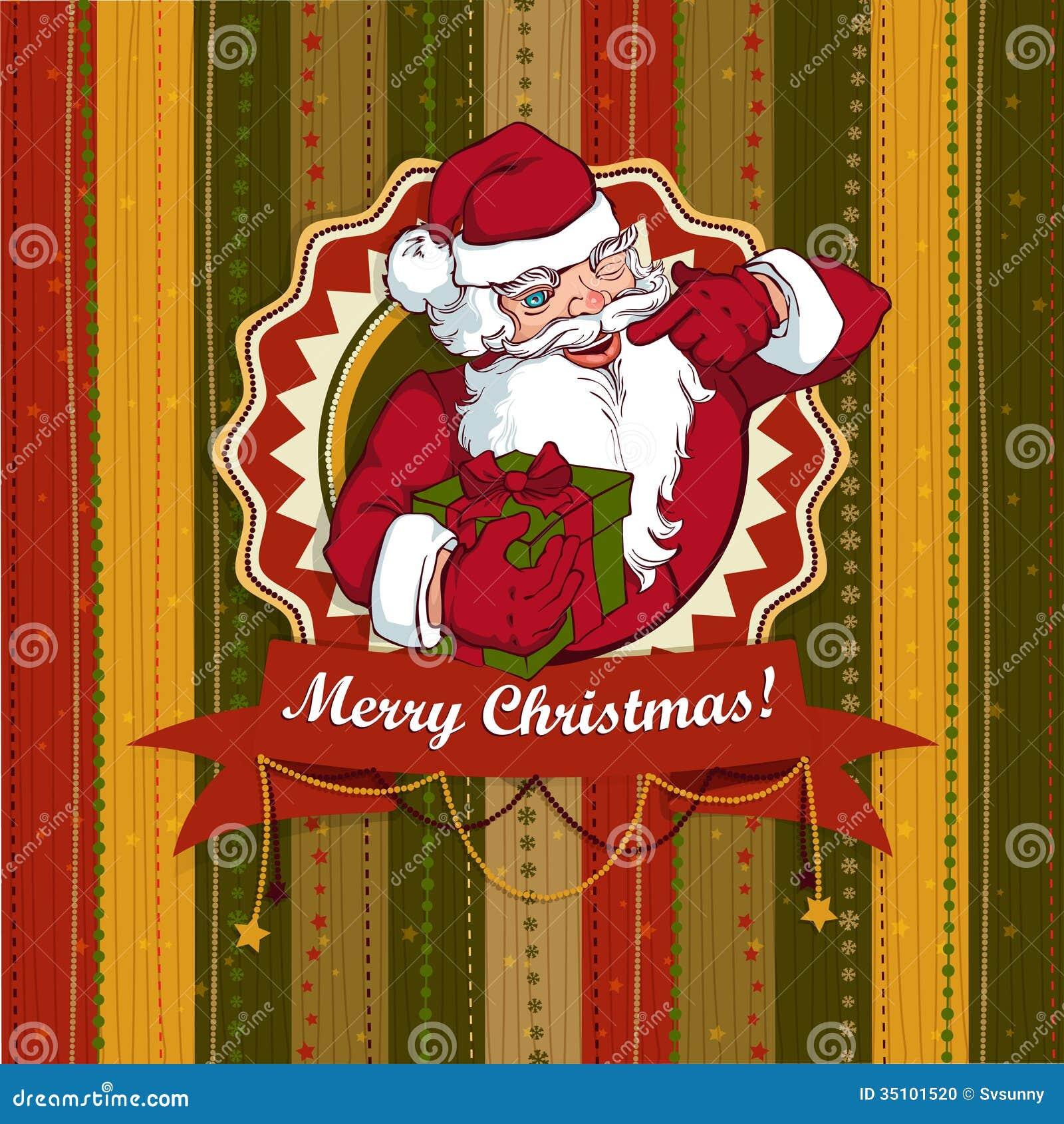 Vintage Navidad santa scrapbooking digital