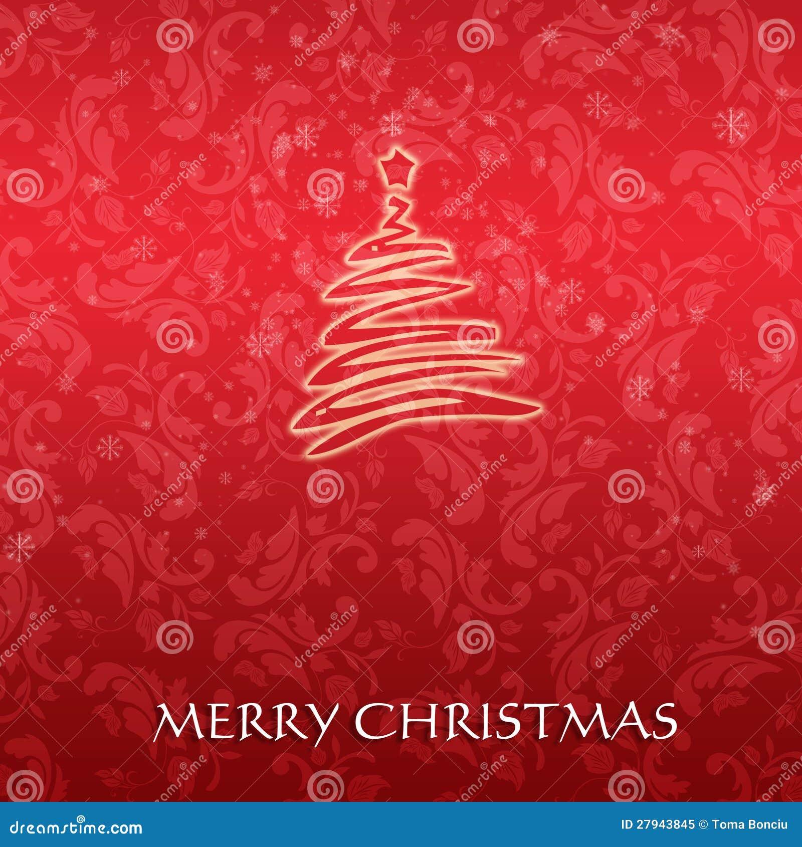 Tarjeta de navidad elegante con un rbol simb lico foto de - Tarjetas de navidad elegantes ...