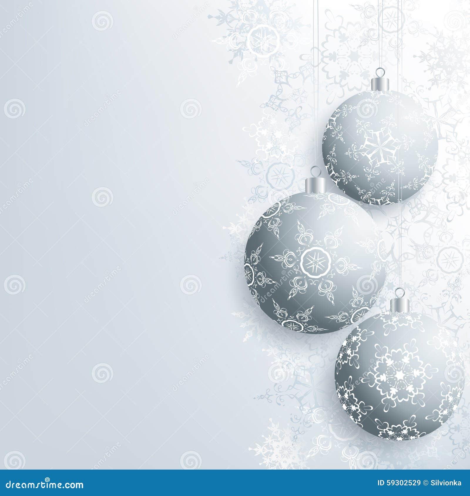 Tarjeta de navidad elegante del a o nuevo y con la bola de - Tarjetas de navidad elegantes ...